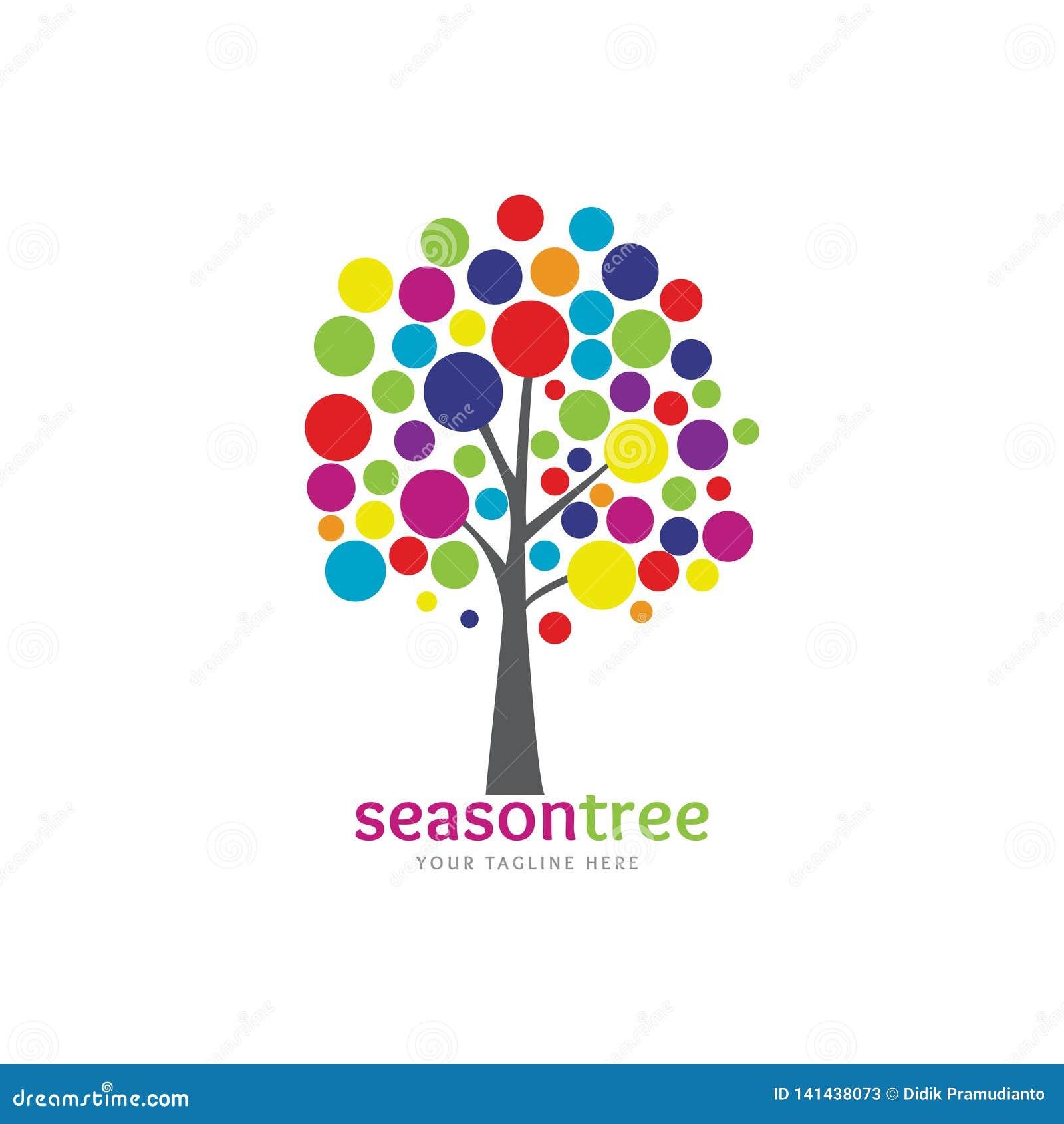 Árvore colorida da estação