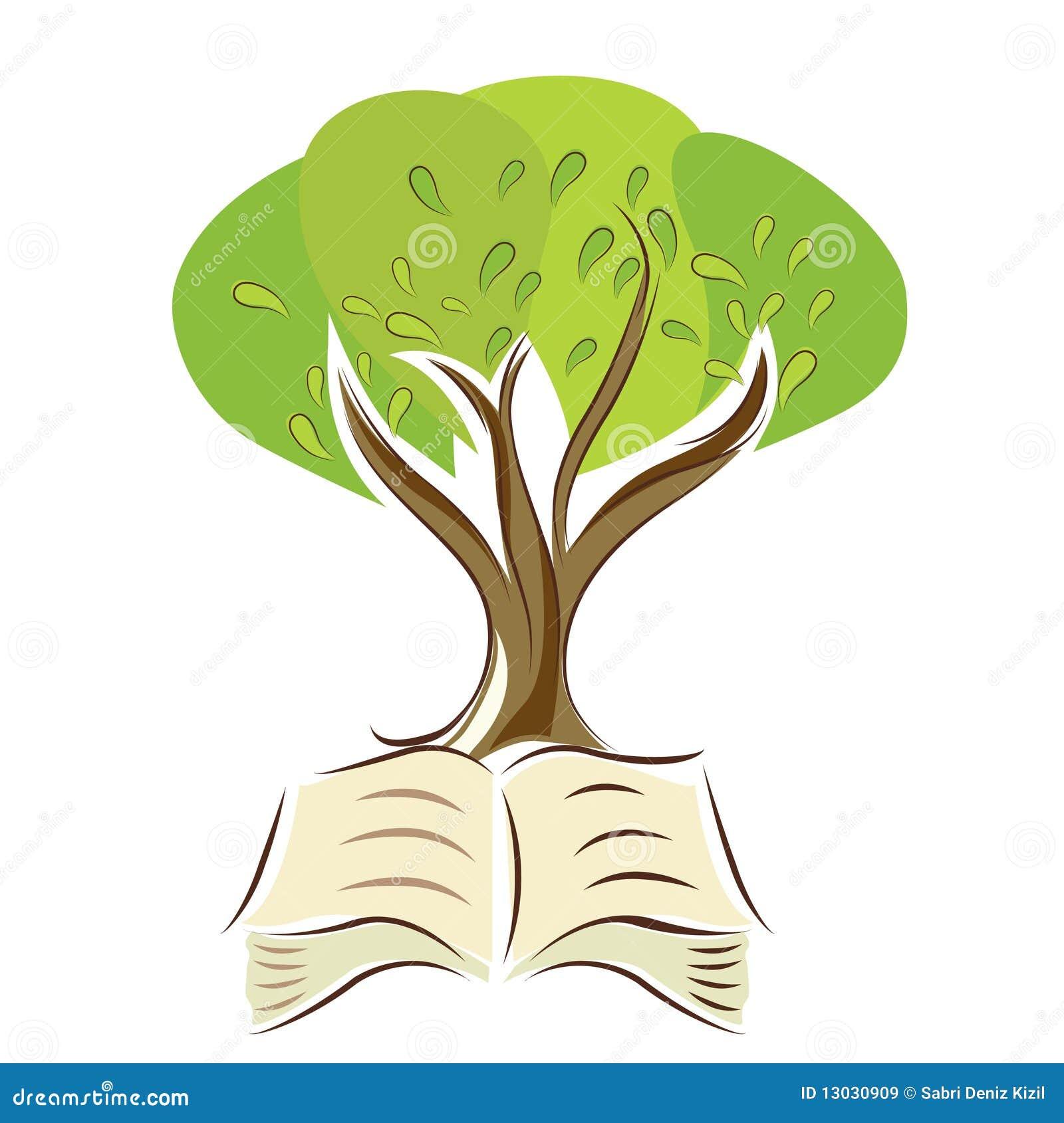 Árvore com livro