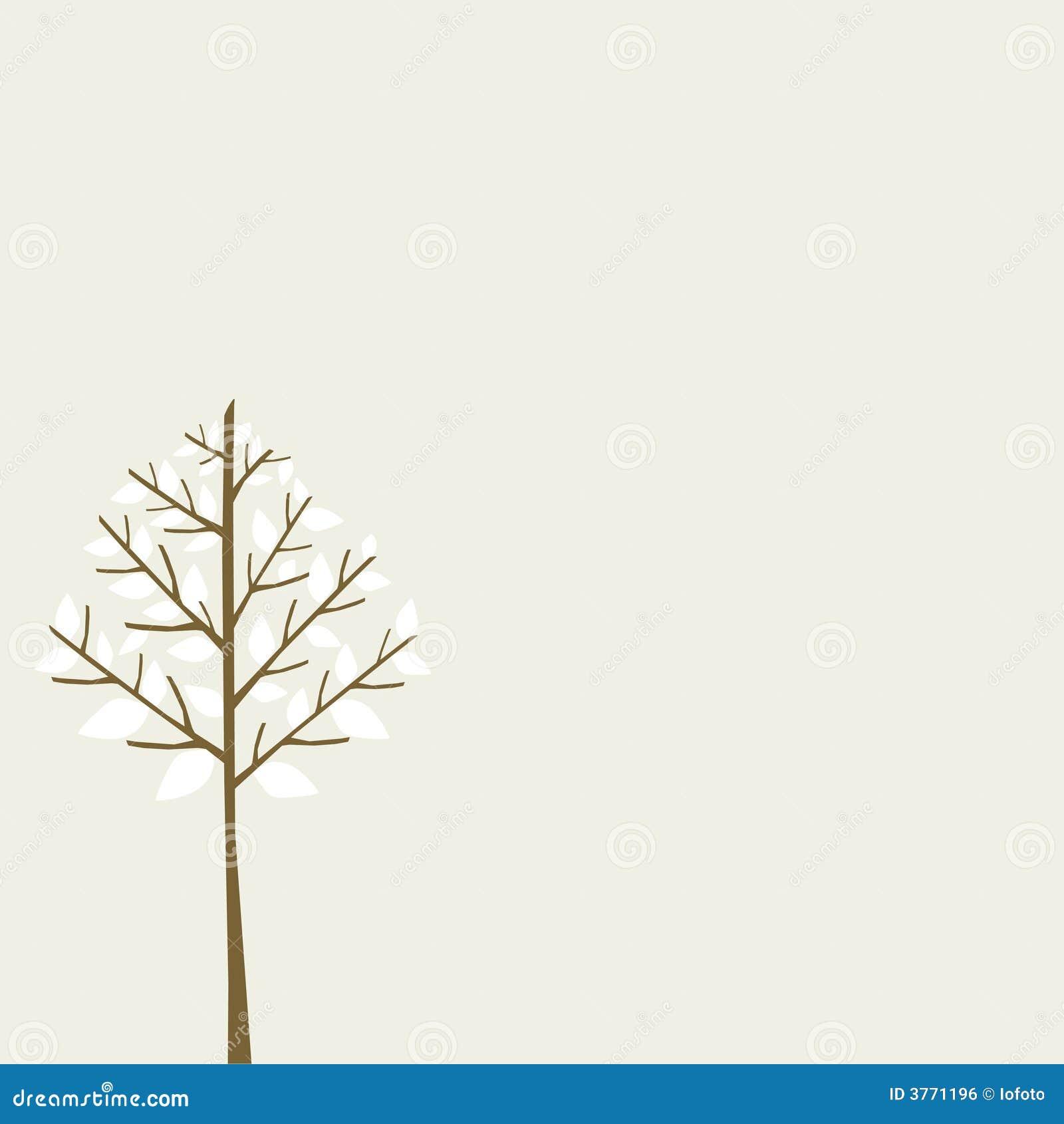 Árvore da neve do inverno