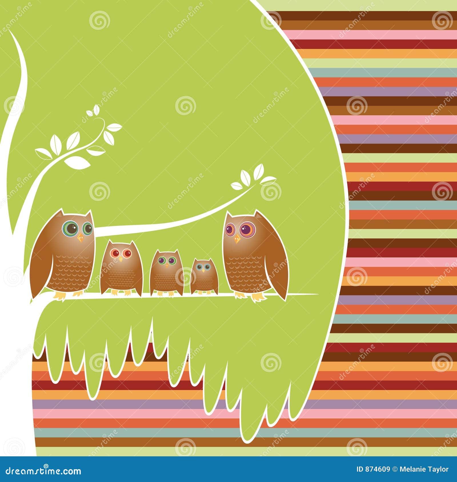Árvore de família da coruja
