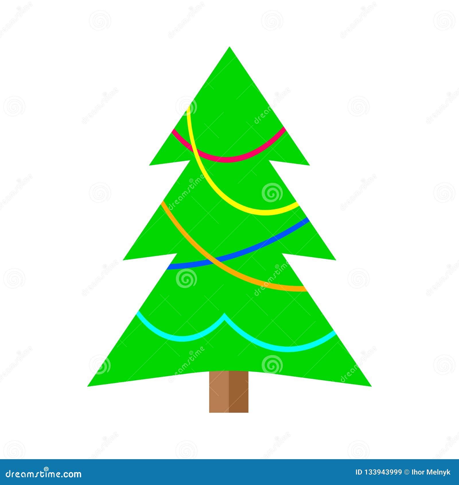 Arvore De Natal Colorida Dos Desenhos Animados Do Inverno