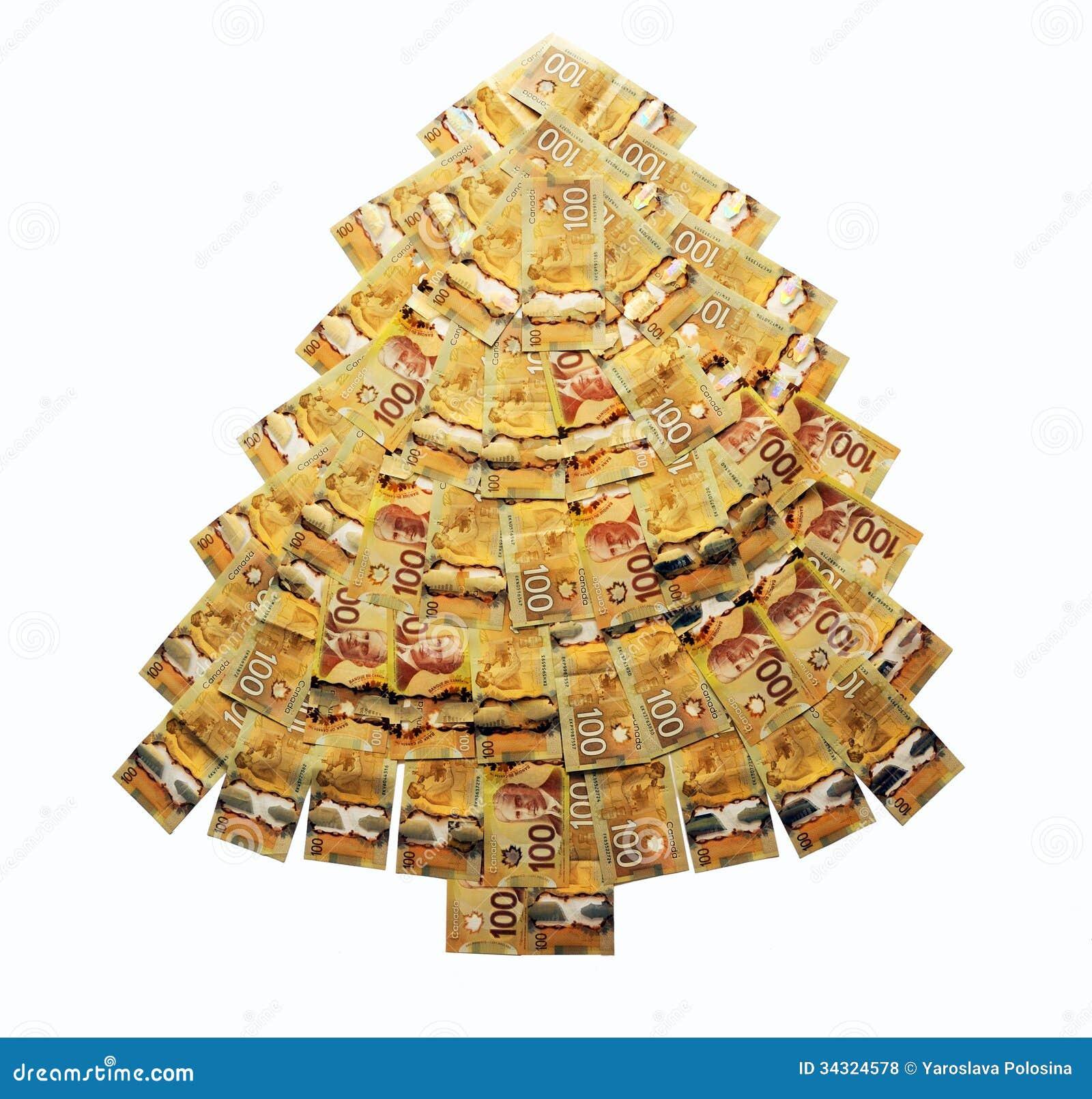 Árvore De Natal Do Dinheiro Foto de Stock - Imagem: 34324578