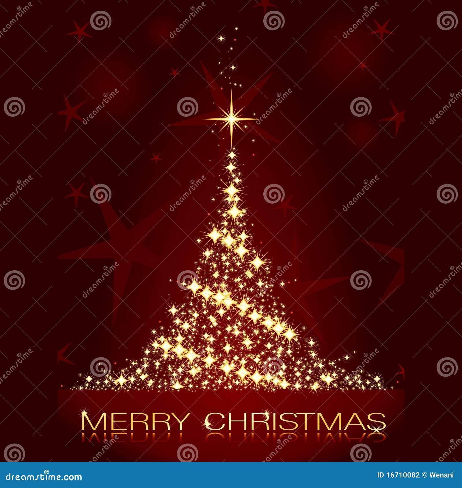 decoracao arvore de natal vermelha e dourada:Árvore De Natal Dourada Vermelha Fotografia de Stock – Imagem