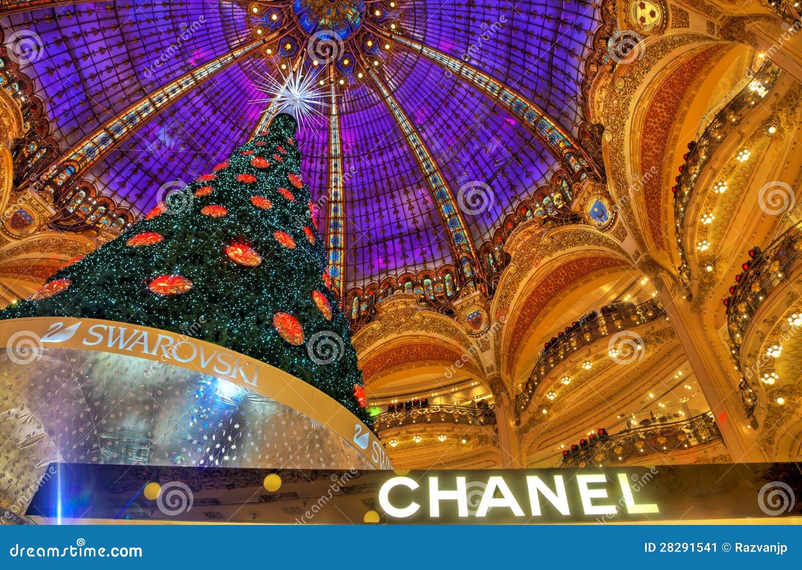 Árvore de Natal em Galeries Lafayette, Paris