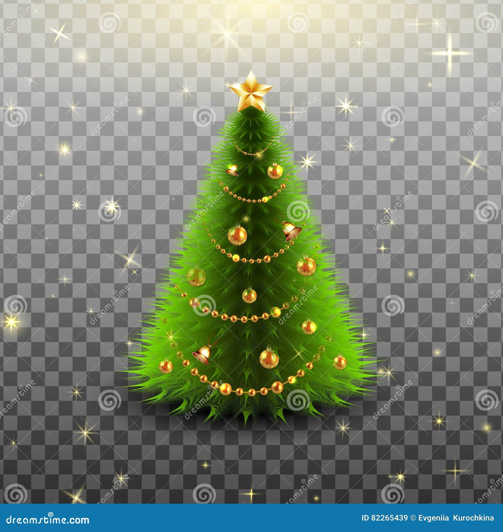 árvore De Natal No Fundo Transparente Ilustração Do Vetor