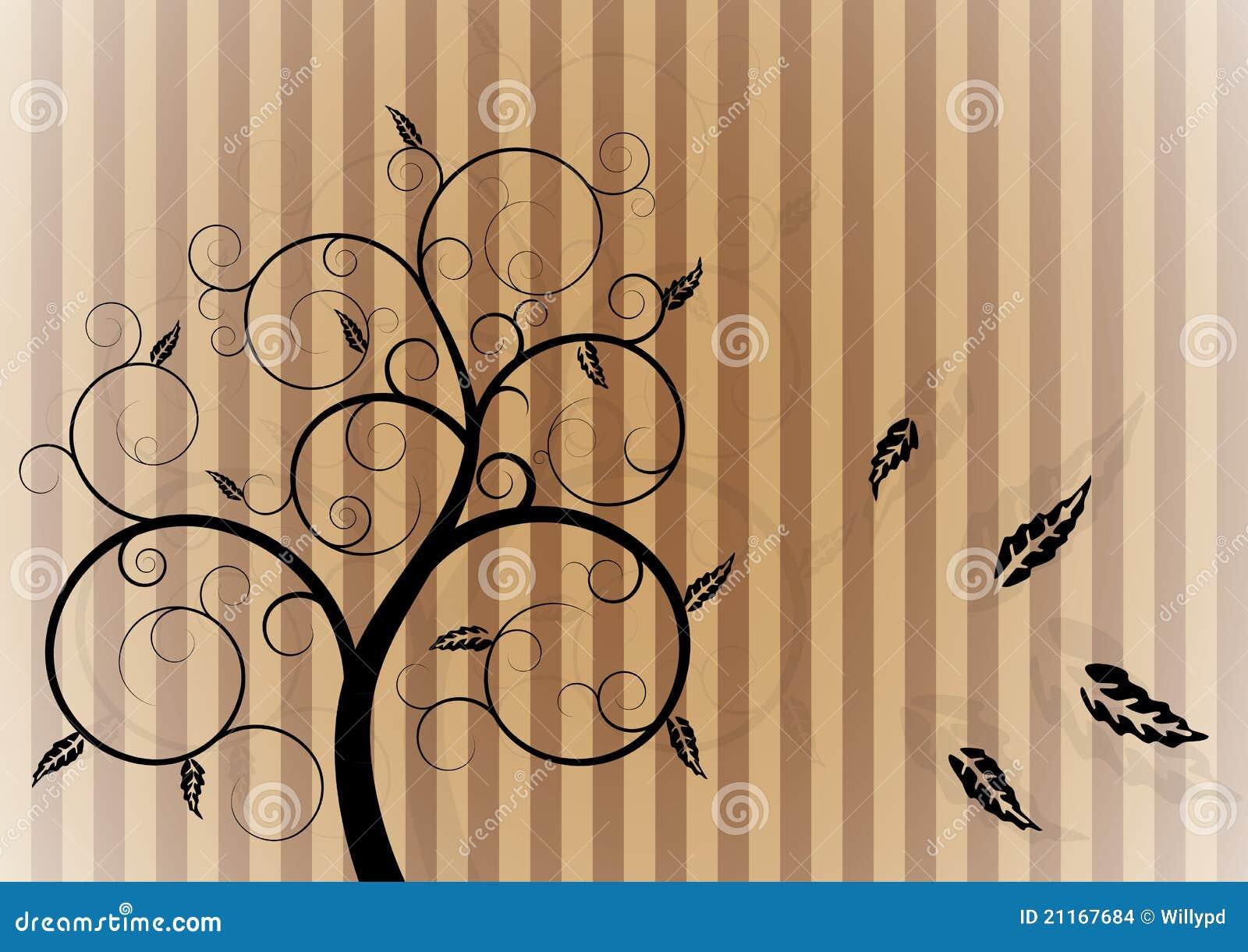 Árvore do redemoinho no outono