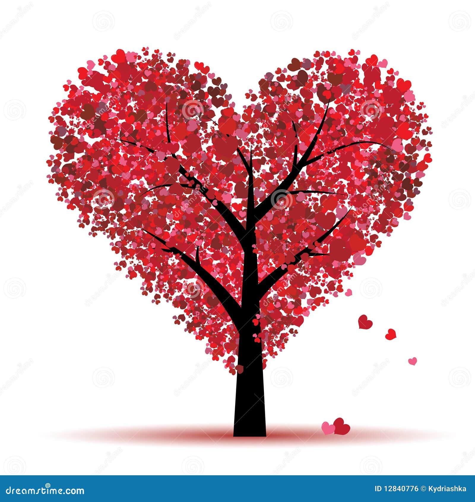 Árvore do Valentim, amor, folha dos corações