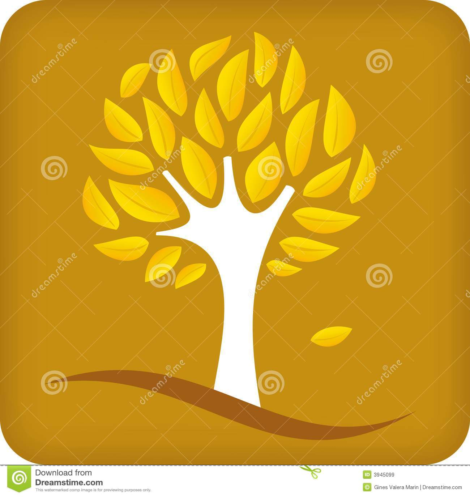 Árvore dourada (vetor)