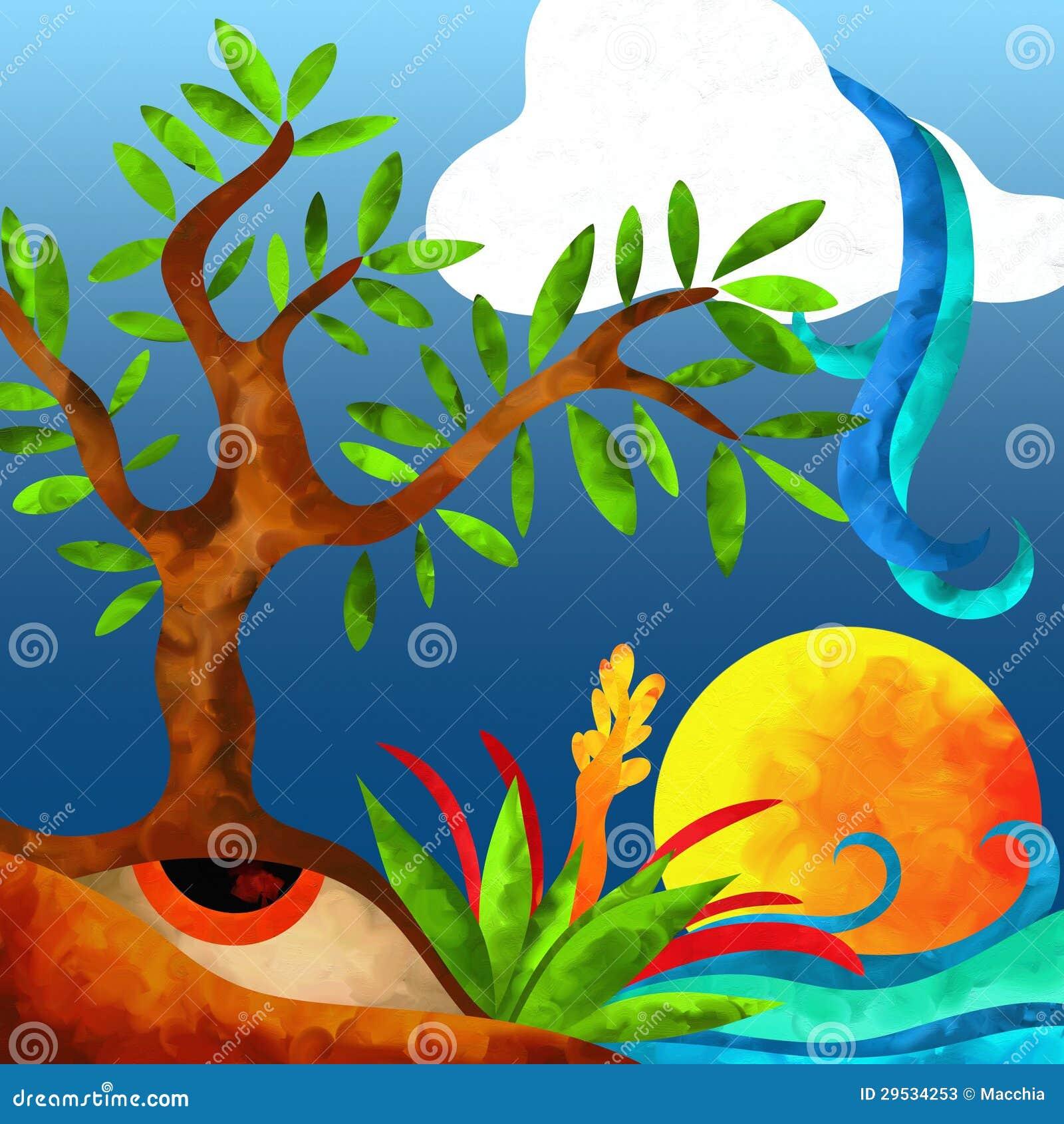 Árvore e água