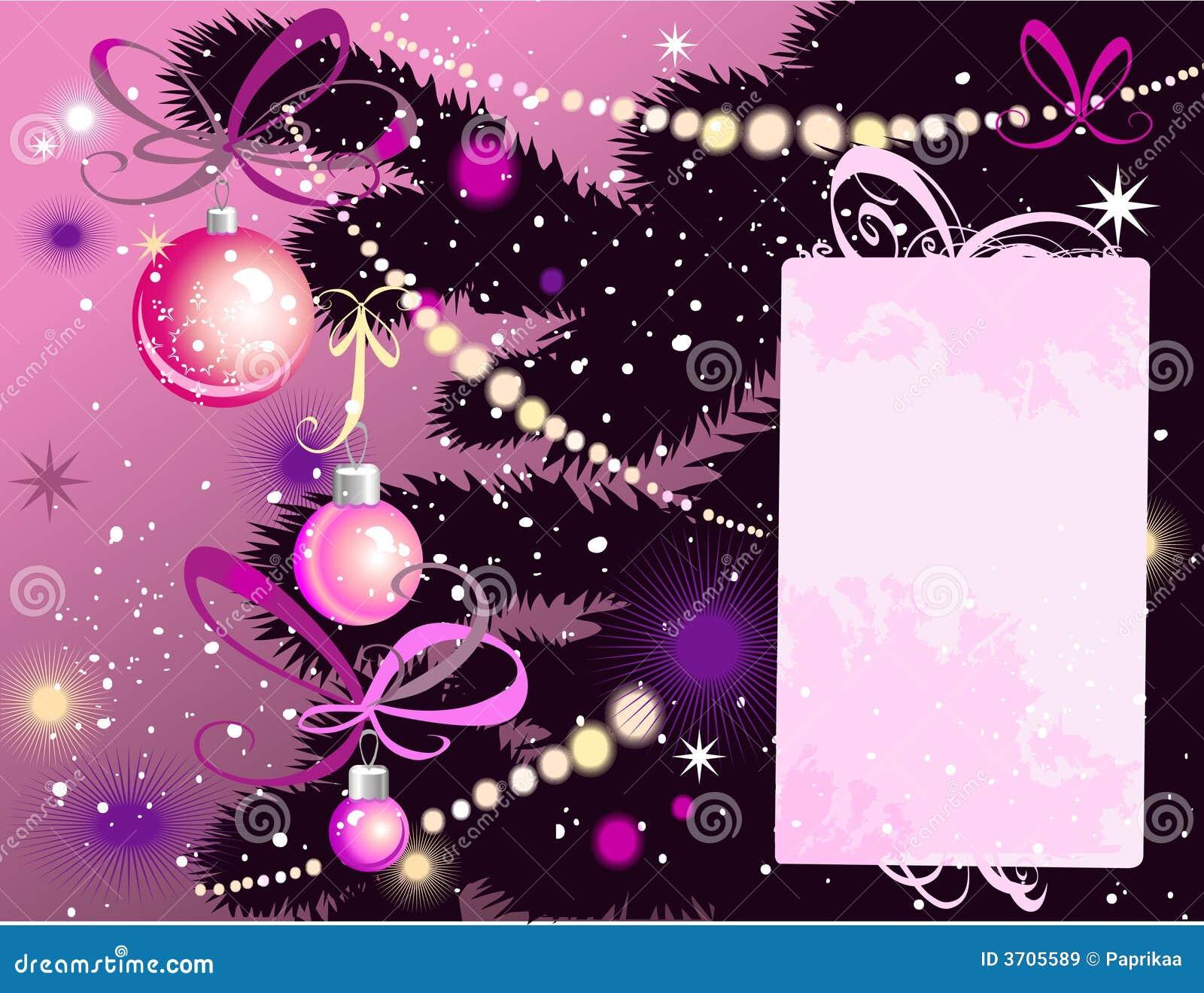 Árvore e cartão de Natal