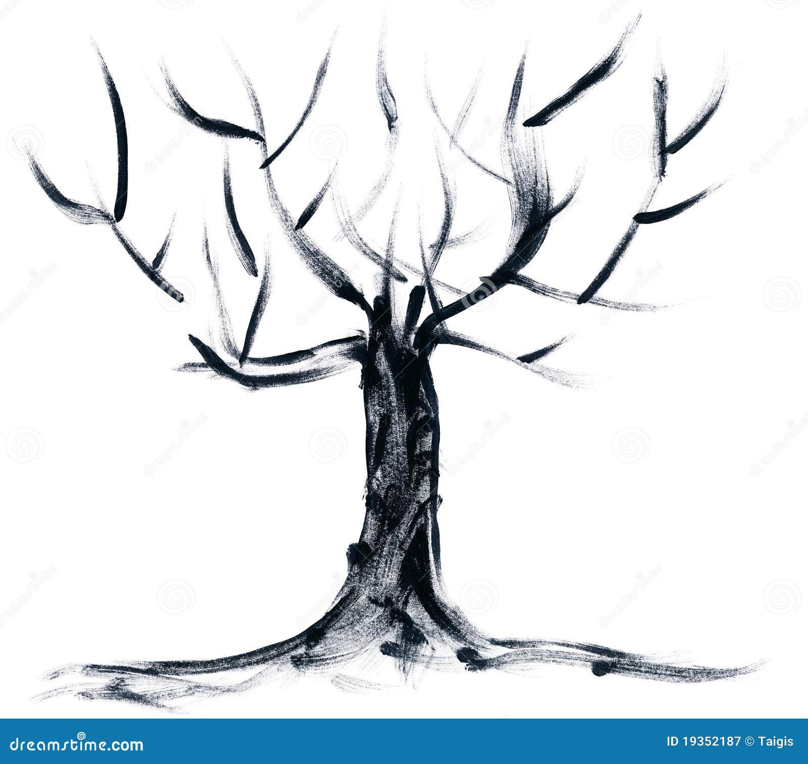 Árvore pintada mão