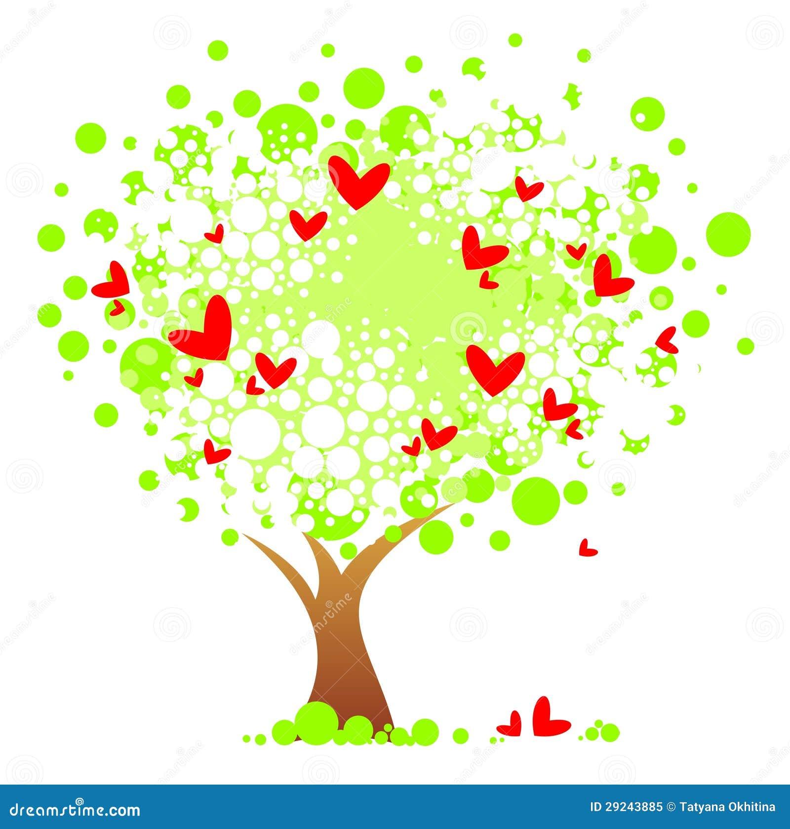 Download Árvore romântica ilustração do vetor. Ilustração de ilustração - 29243885