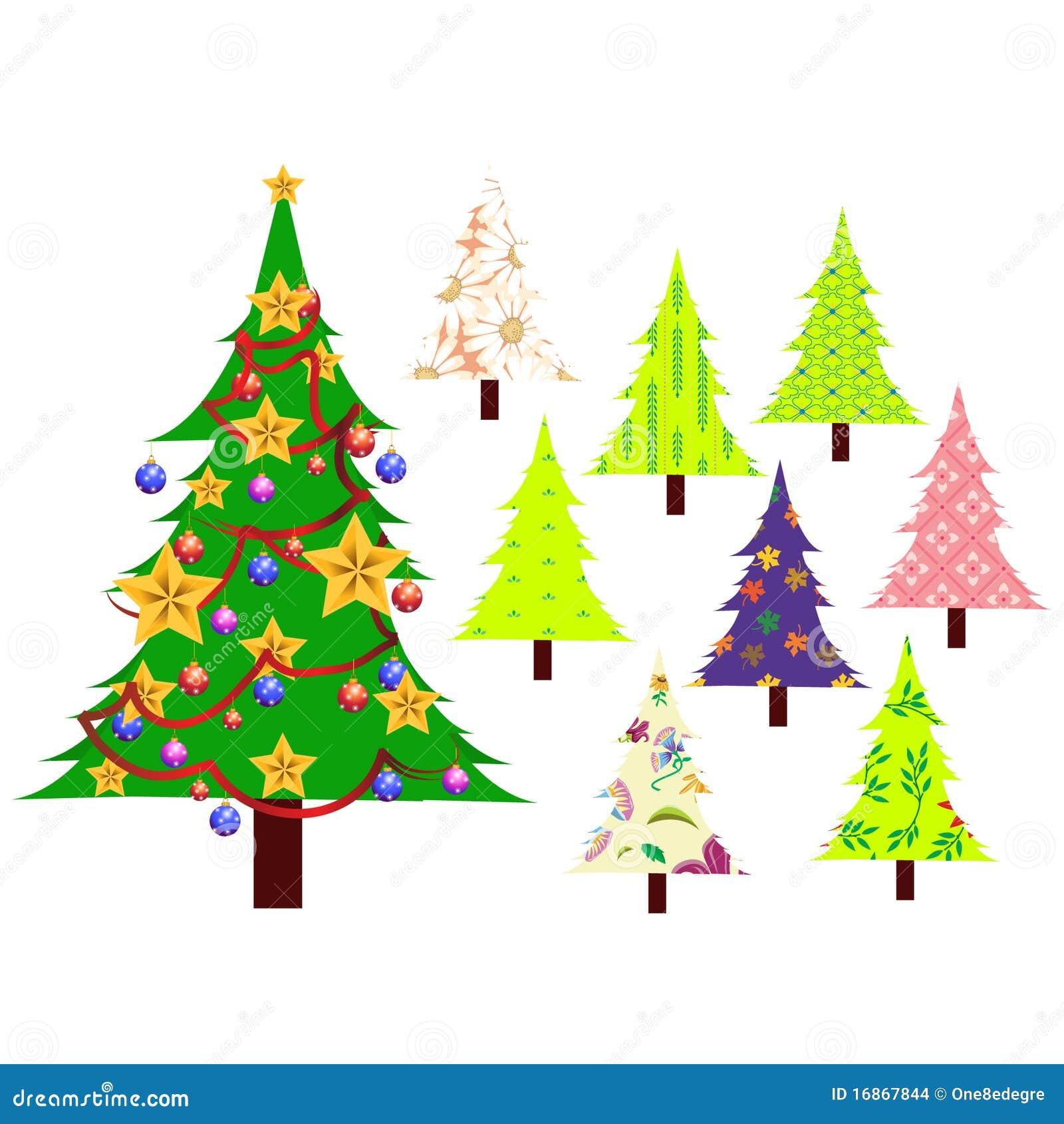 Árvores de Natal ajustadas