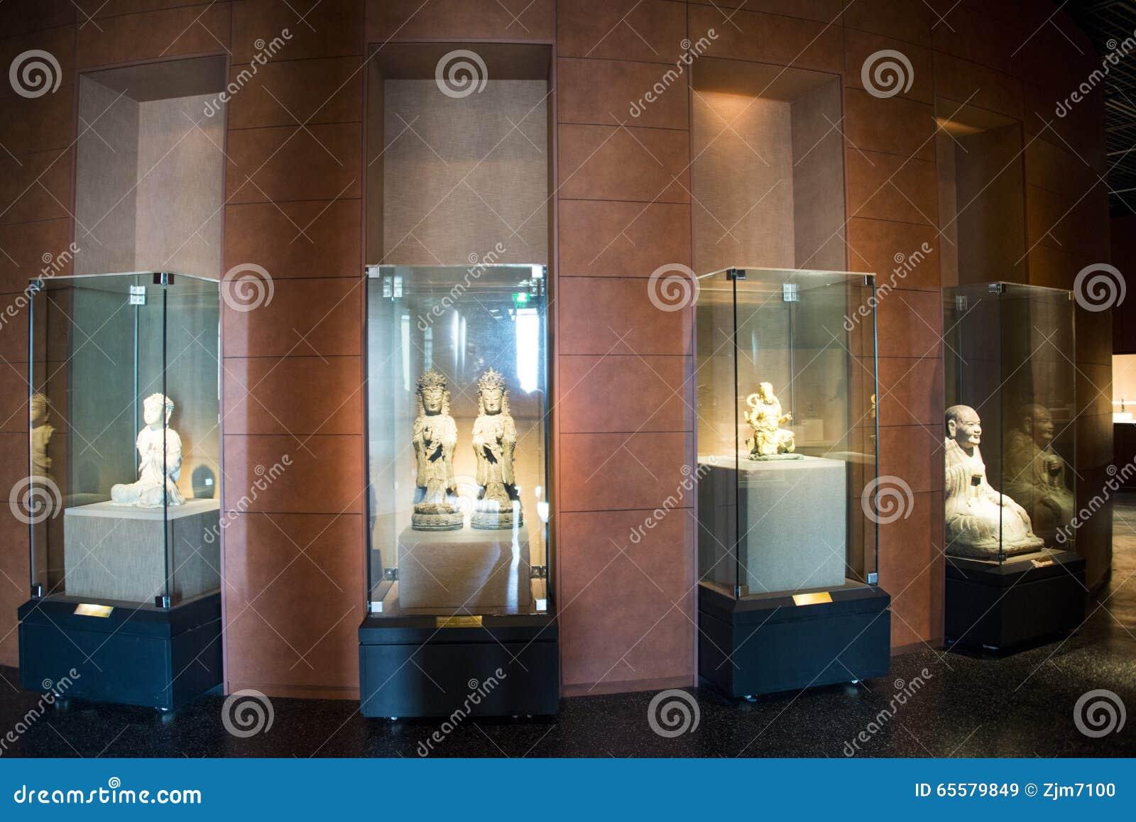 Ásia China, Pequim, museu principal, salão de exposição interno