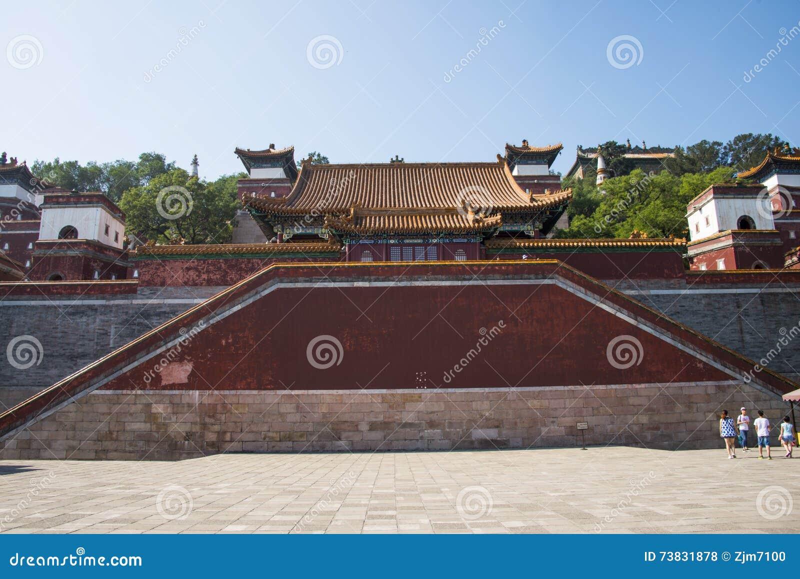 Ásia China, Pequim, o palácio de verão, arquitetura de ŒClassical do ¼ do landscapeï do verão, arquitetura clássica, sidabuzhou,