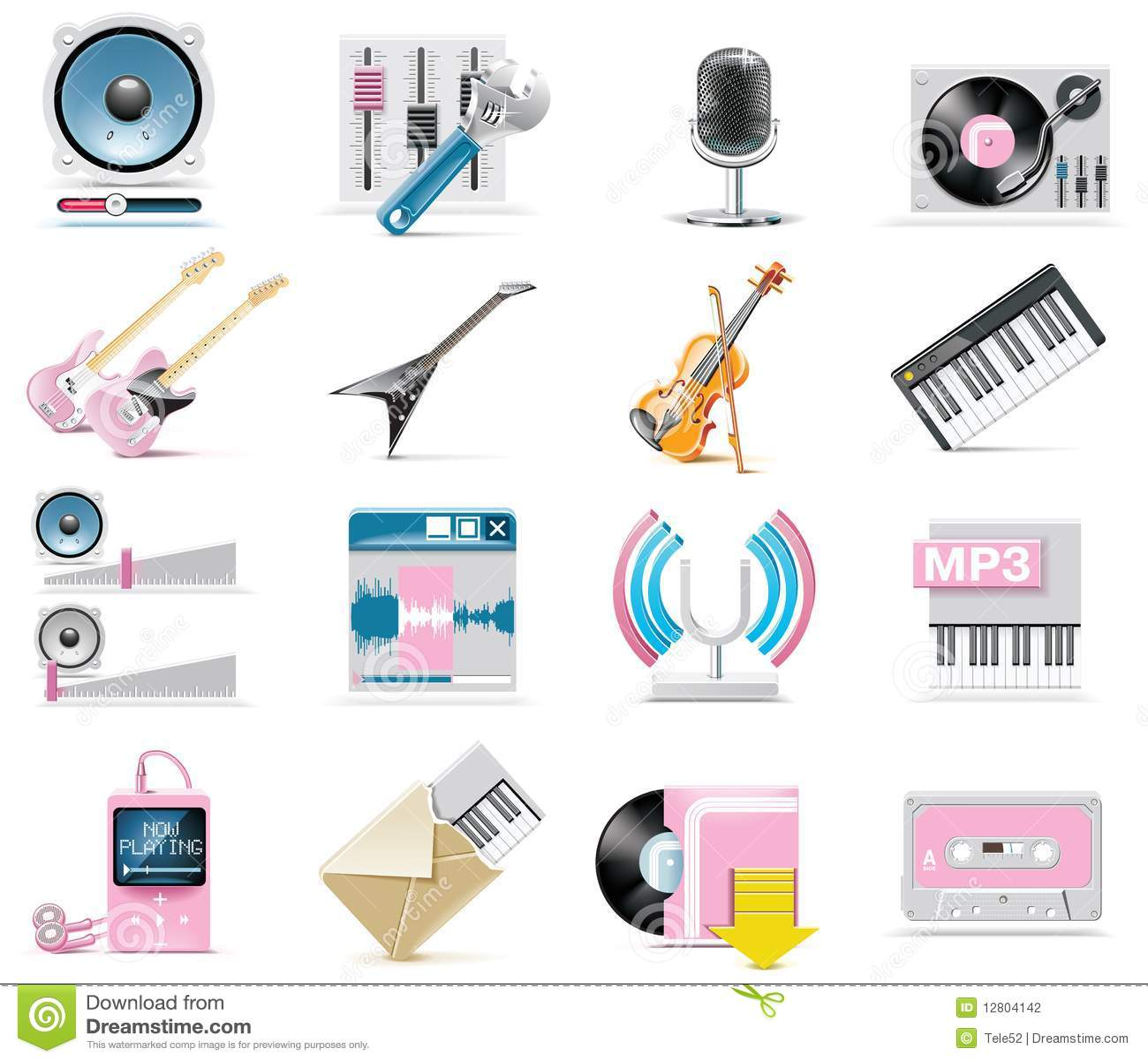 Áudio do vetor e jogo do ícone da música