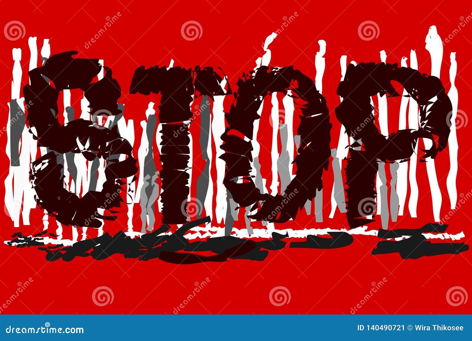'END'Text auf rot-weißem - grauer Hintergrund