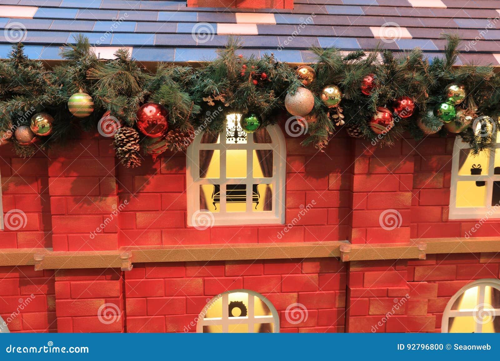 ……Christmas tło z Bożenarodzeniową dekoracją