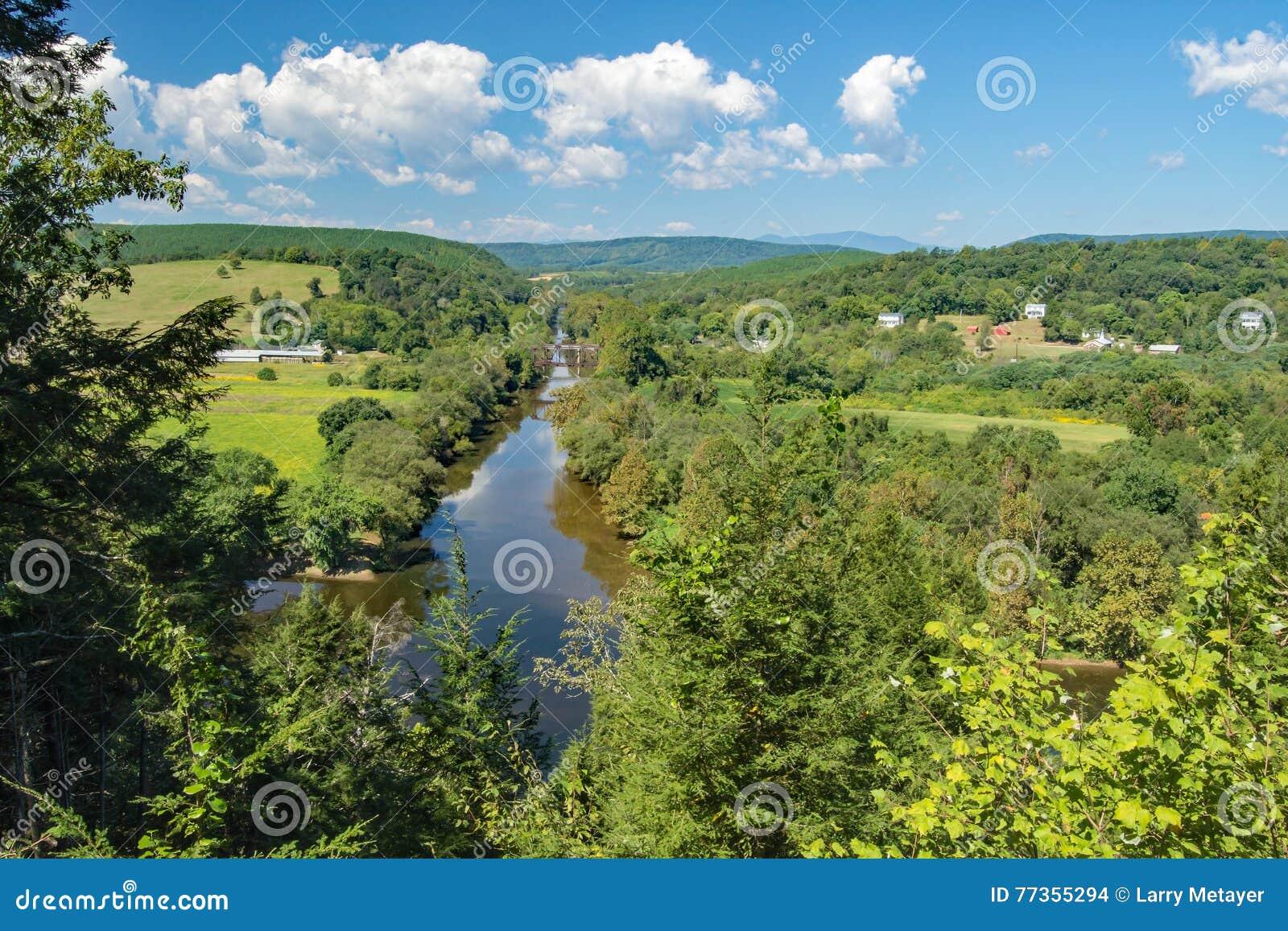 "€ ""la contea di Buckingham, la Virginia, U.S.A. di James Rivers e del legame"