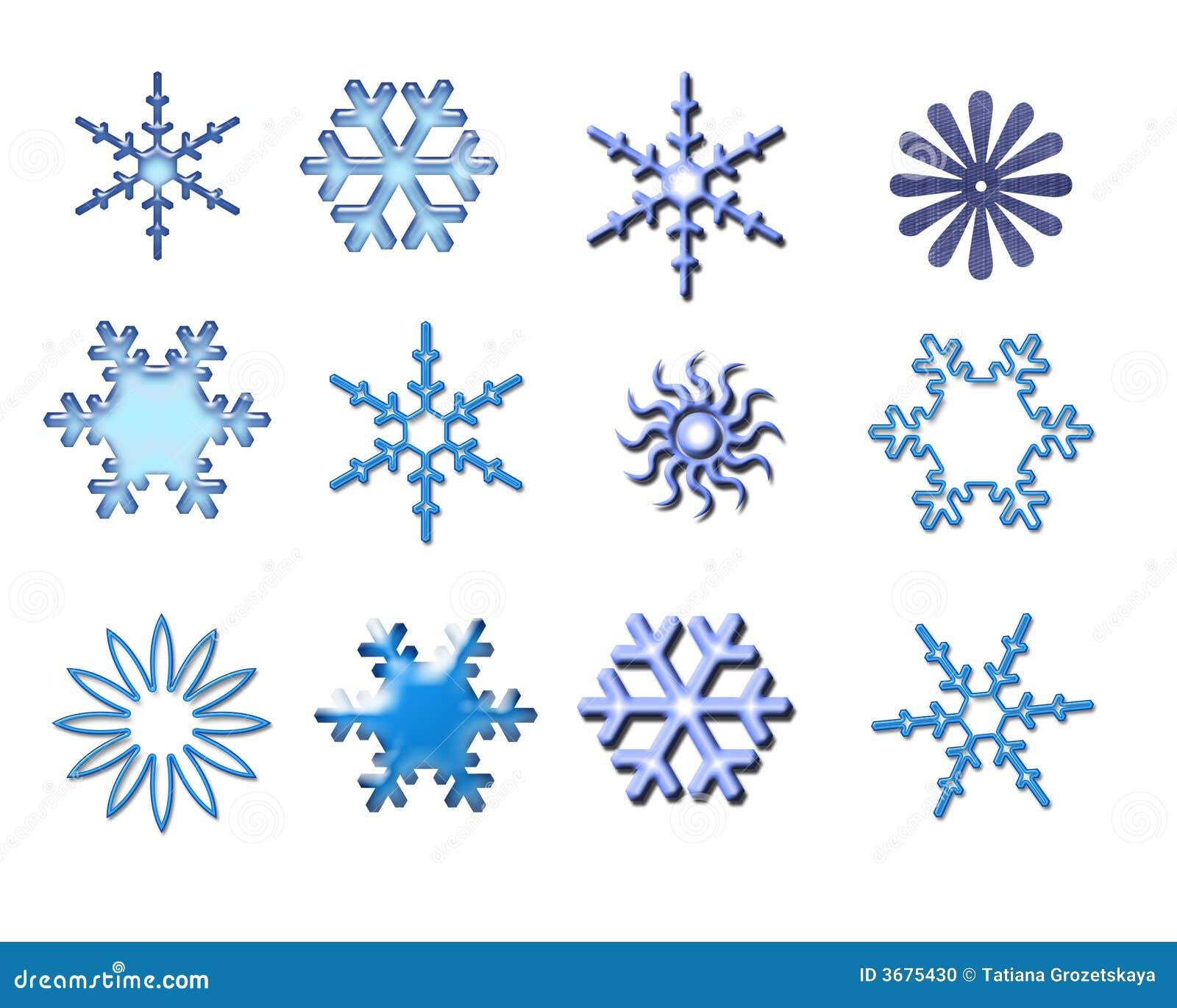 Download Dei Fiocchi Di Neve Isolato Su Bianco Illustrazione di Stock - Illustrazione di disegno, celebrazione: 3675430