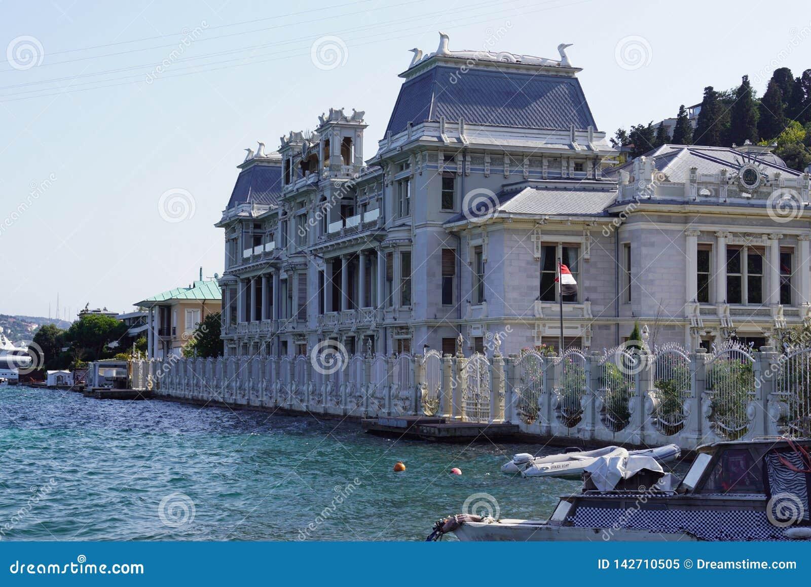 Ä°stanbul Marmara, Turcja 10,/ 03 2019: Egipt konsulat