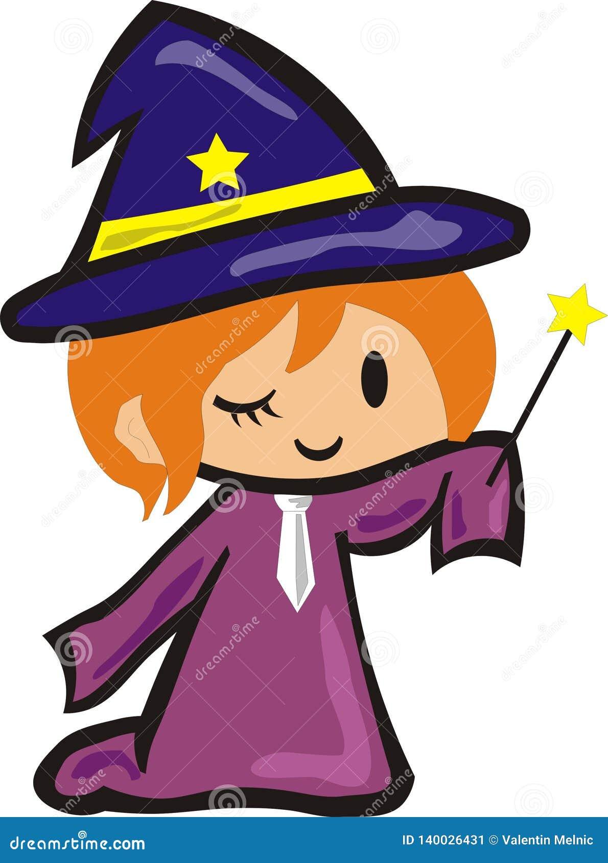 一点蓝色帽子的巫术师