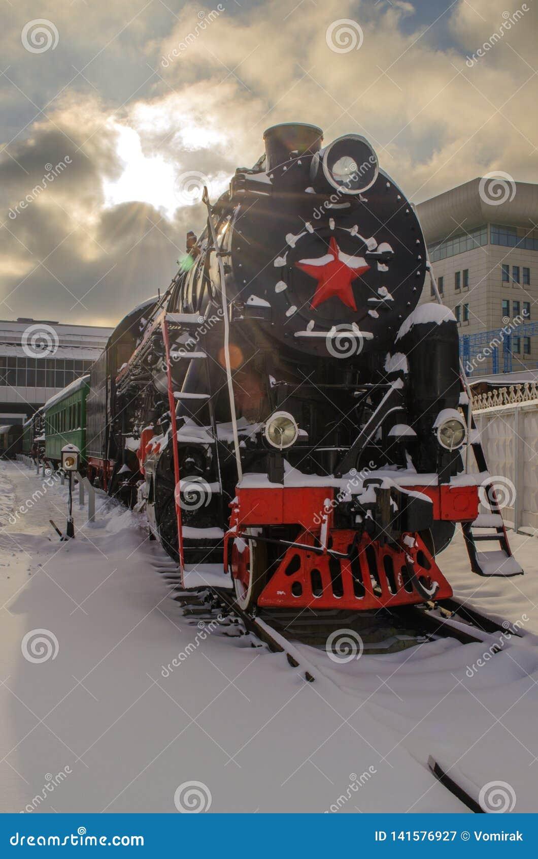乌克兰,基辅,2019年1月24日 交通博物馆