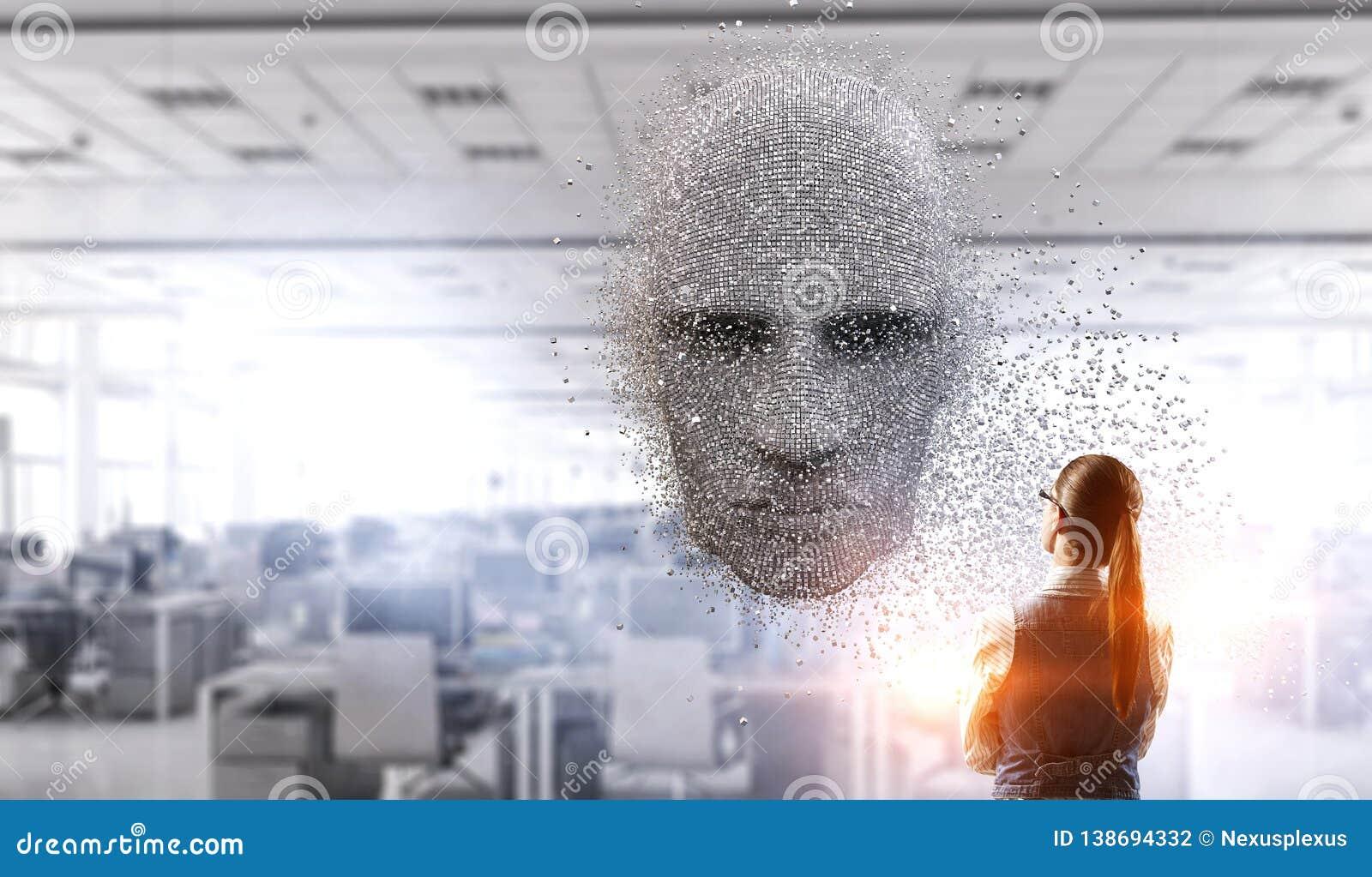 人工智能和未来技术 混合画法
