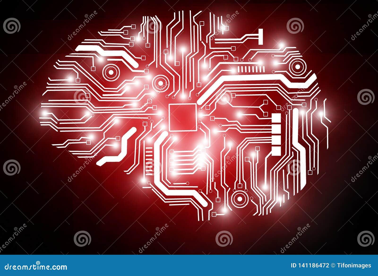 代表人工智能的一个概念性图象