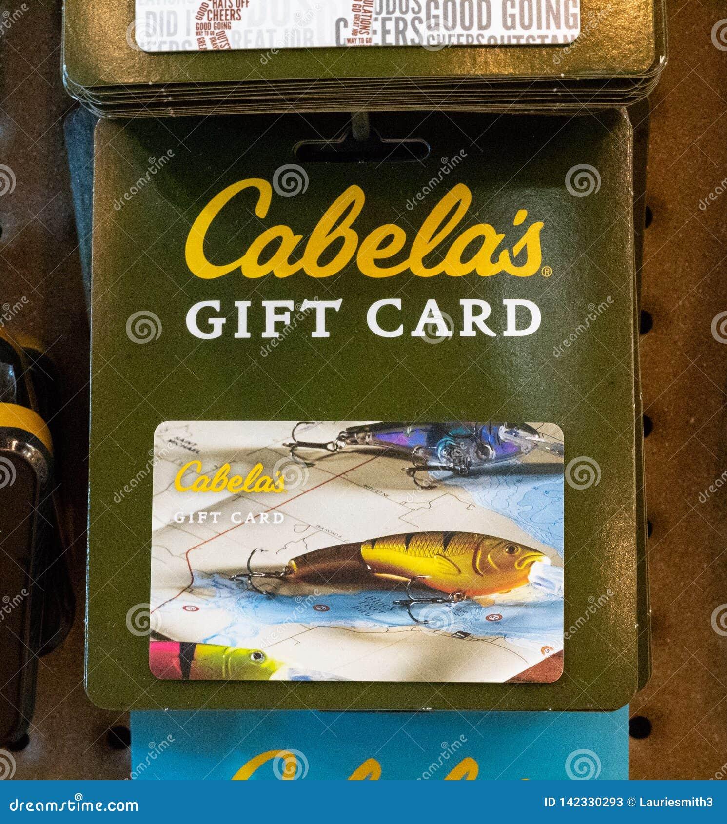 以钓鱼主题的Cabela的礼品券的图象,父亲节想法
