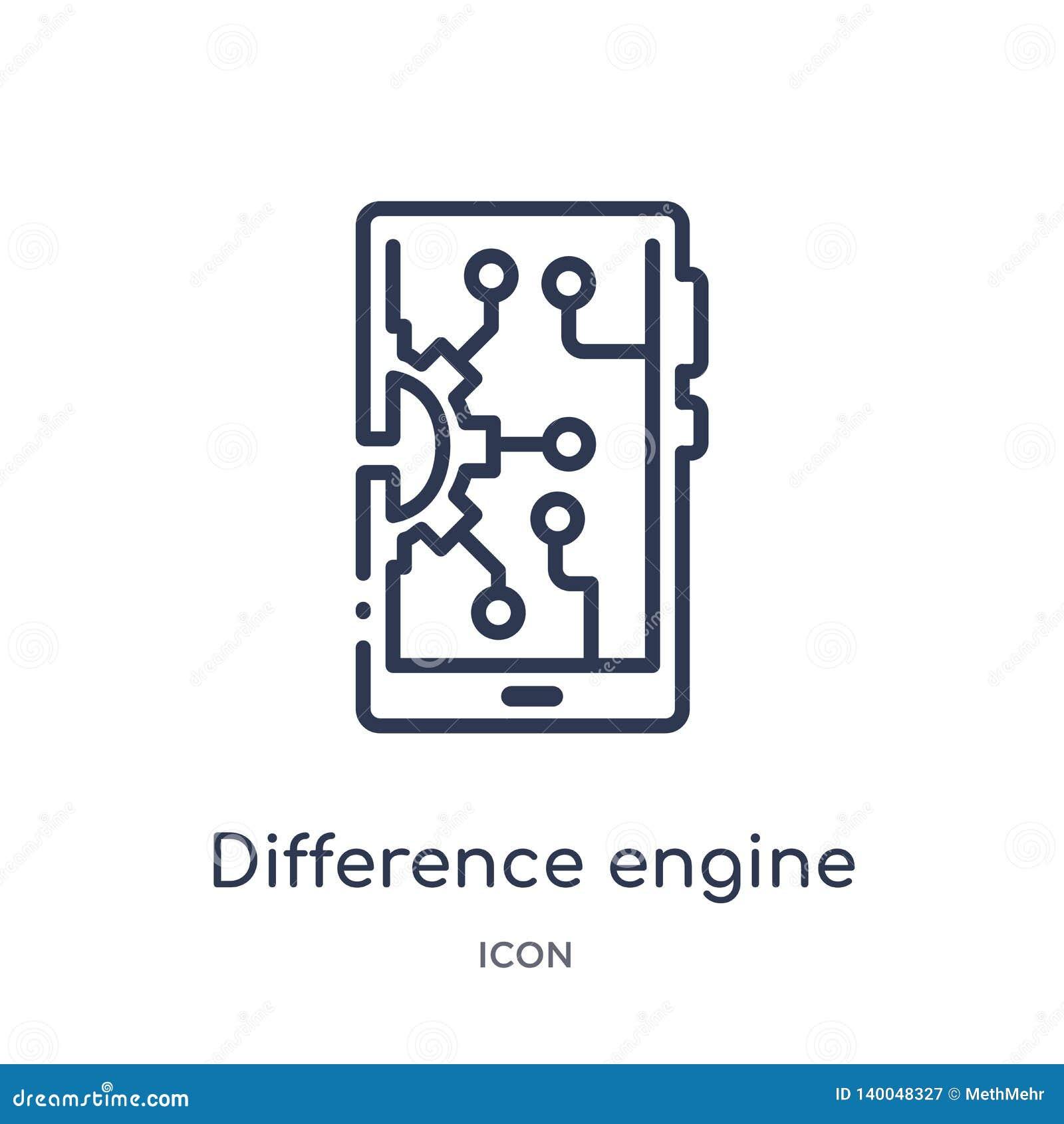 从人为intellegence和未来技术概述收藏的线性差动引擎象 稀薄的线差动引擎