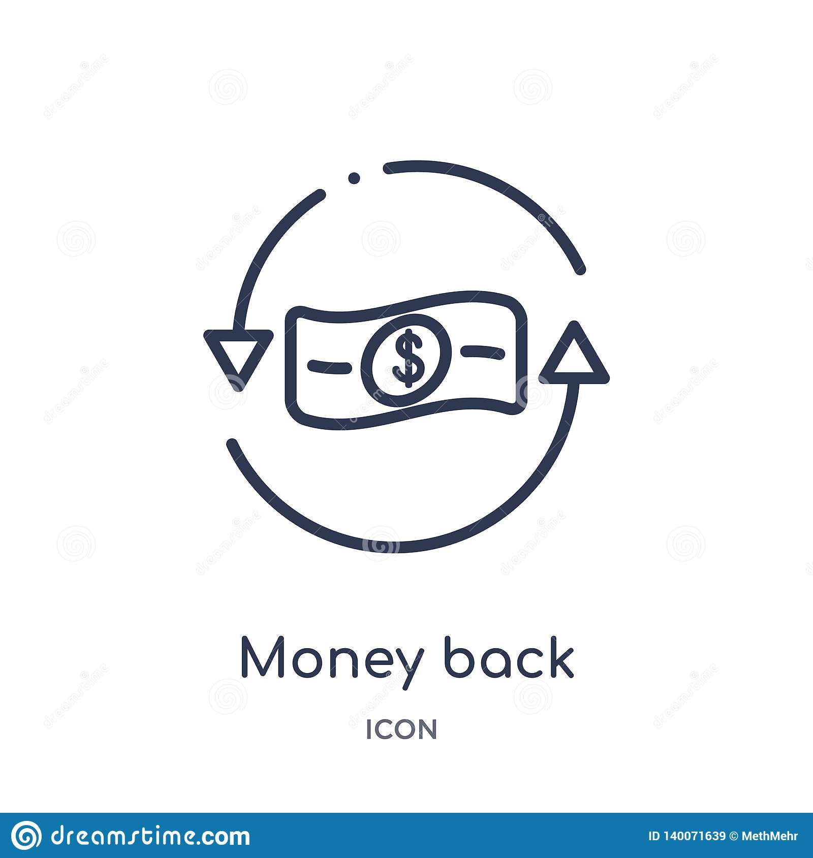 从企业和财务概述汇集的线性金钱后面象 稀薄的线金钱在白色背景隔绝的后面象 货币