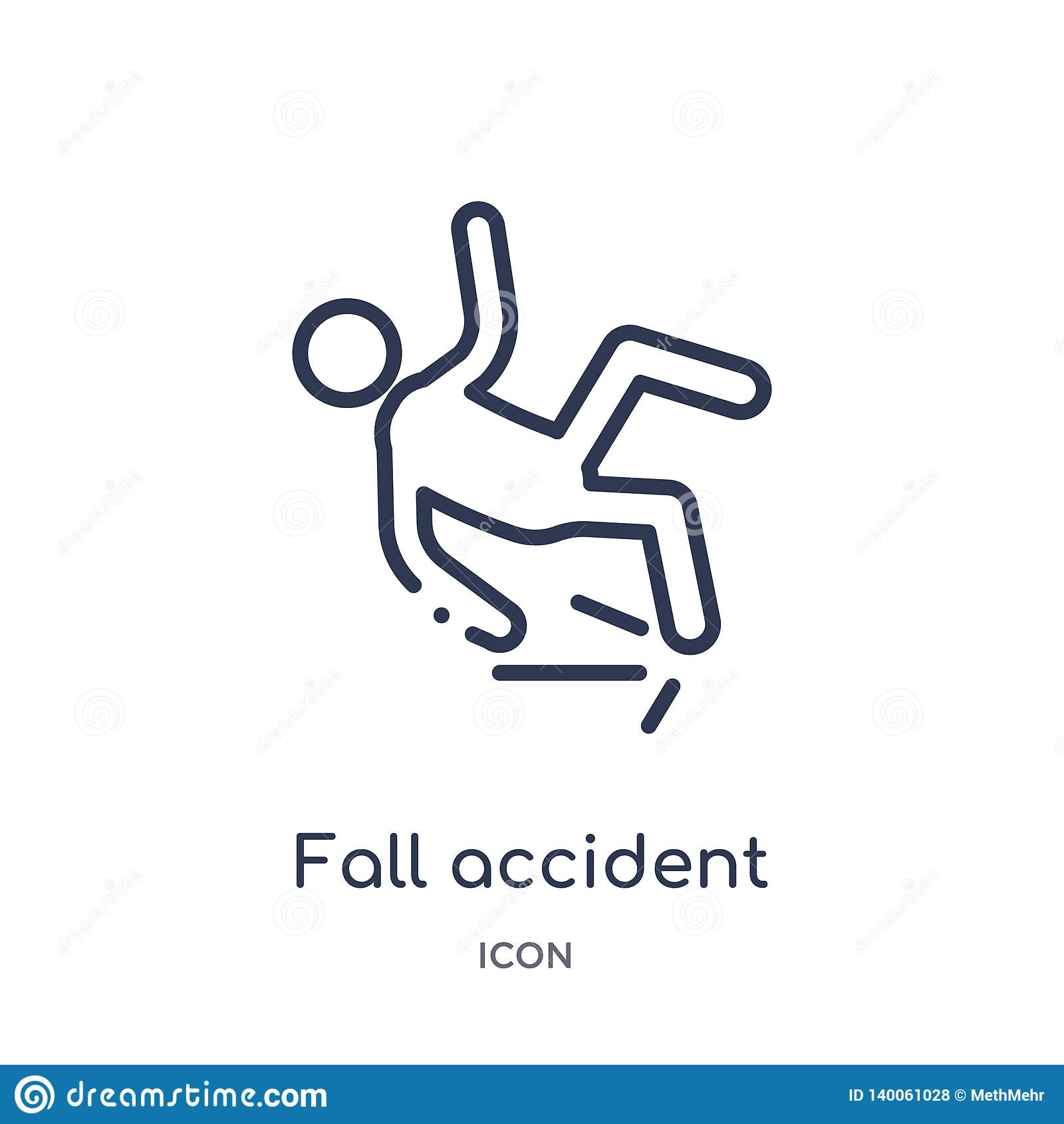 从保险概述汇集的线性秋天事故象 稀薄的线秋天在白色背景隔绝的事故象 秋天