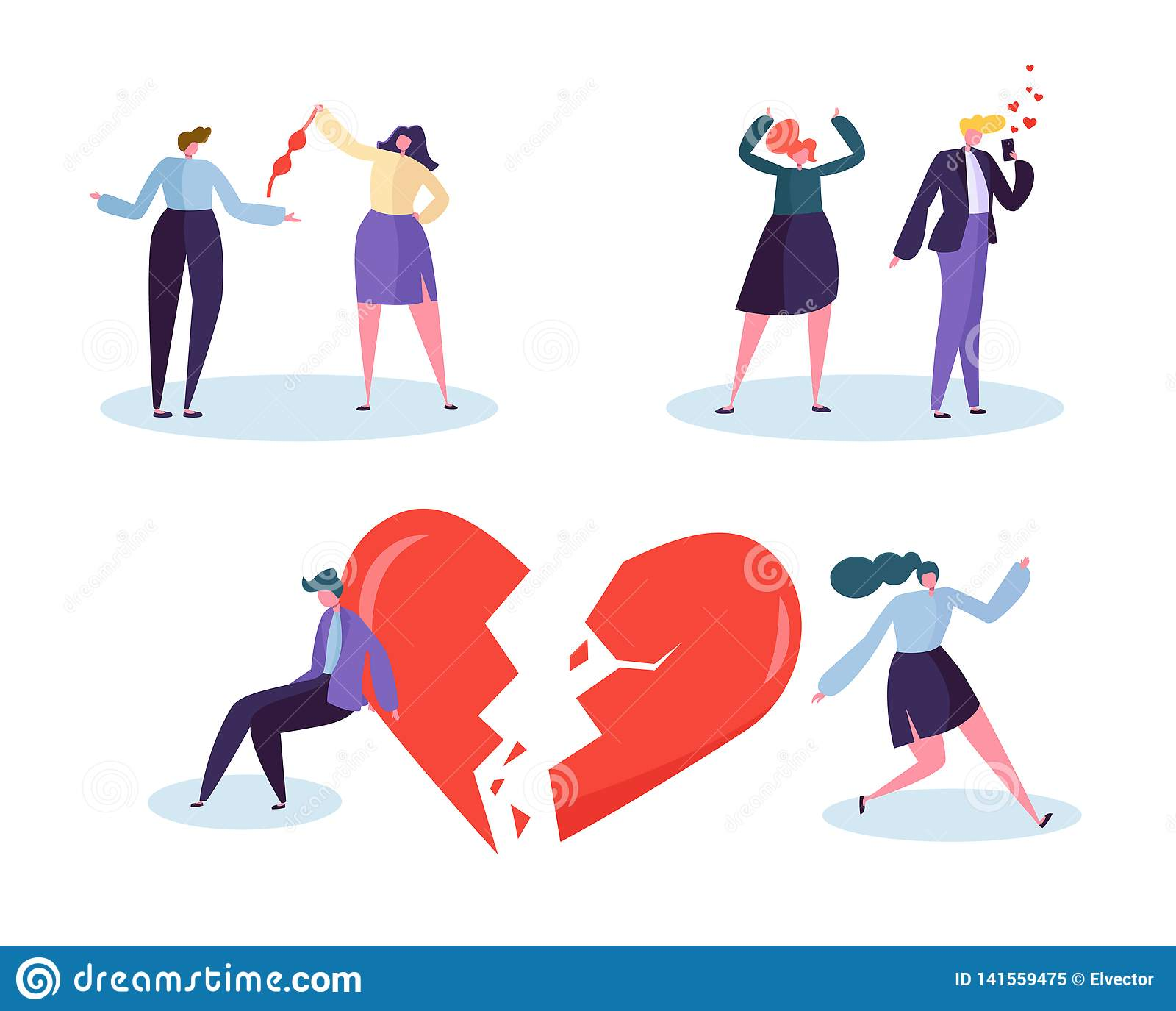 伤心人爱联系概念 不快乐的男性和女性角色嫌疑犯伙伴嫉妒 妻子丈夫谈话