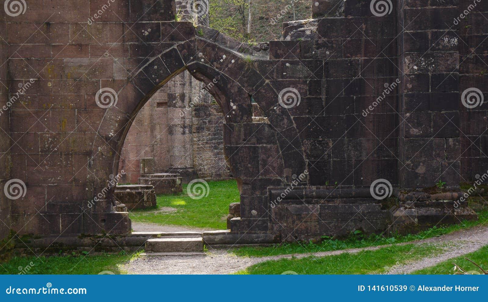 修士修道院废墟allerheiligen门