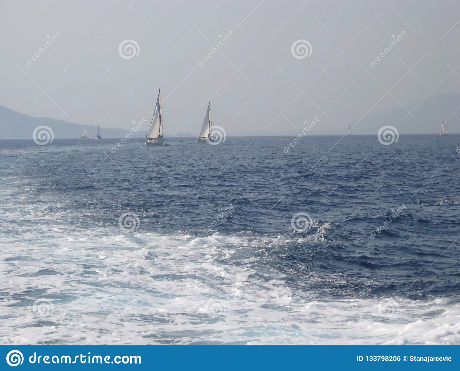 Ägäisches Meer, zwischen der Insel von Rhodos und der Insel von Symi