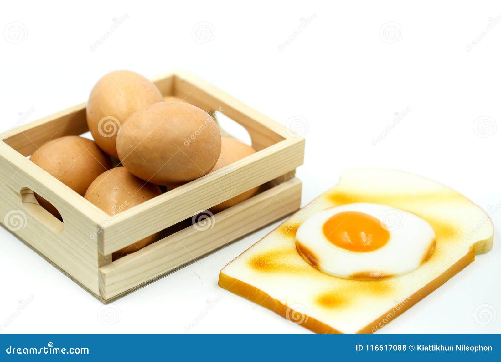 Ägg för frukost med rostat bröd