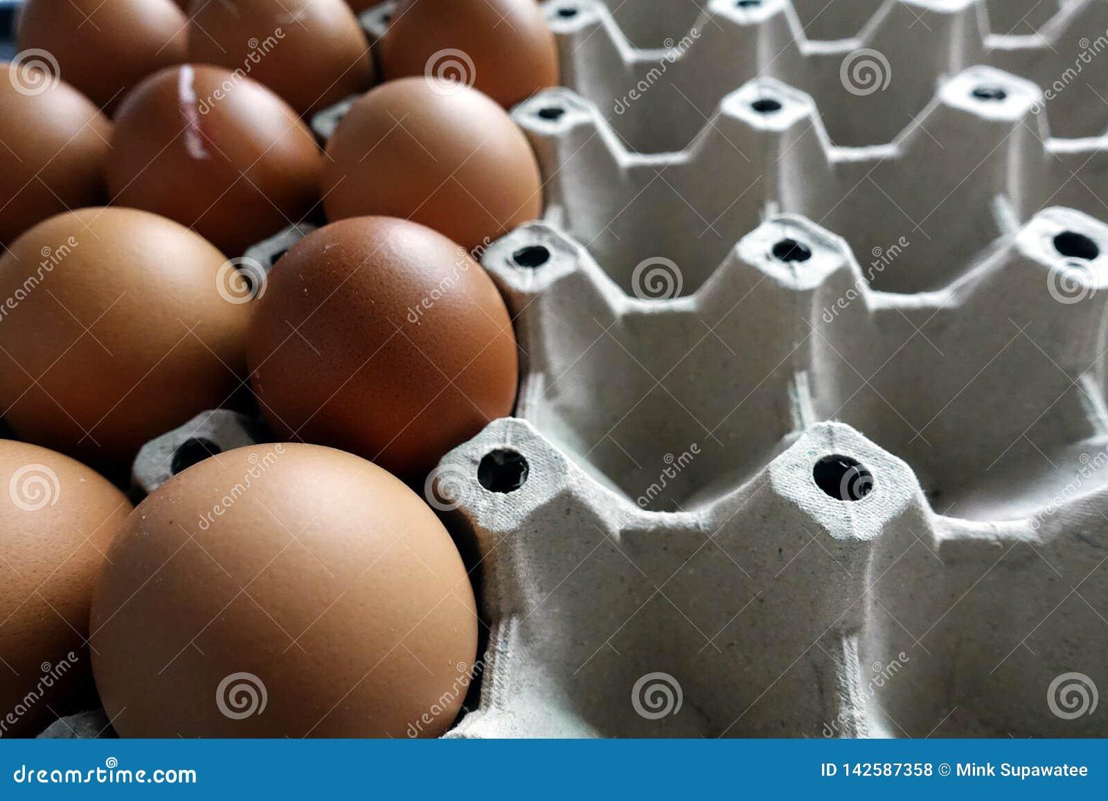 Ägg i det pappers- magasinet, använd halva close upp