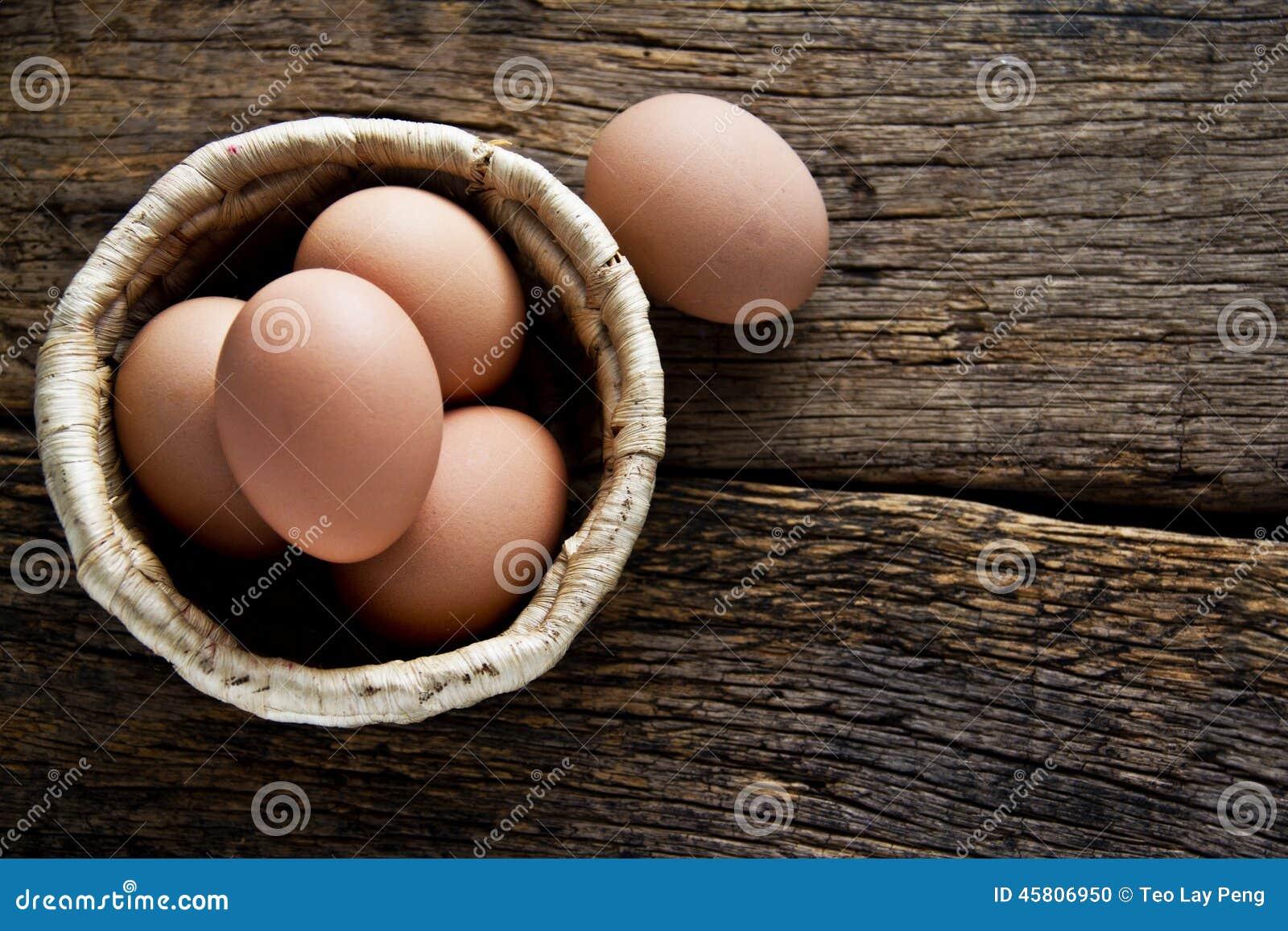Ägg i korgen