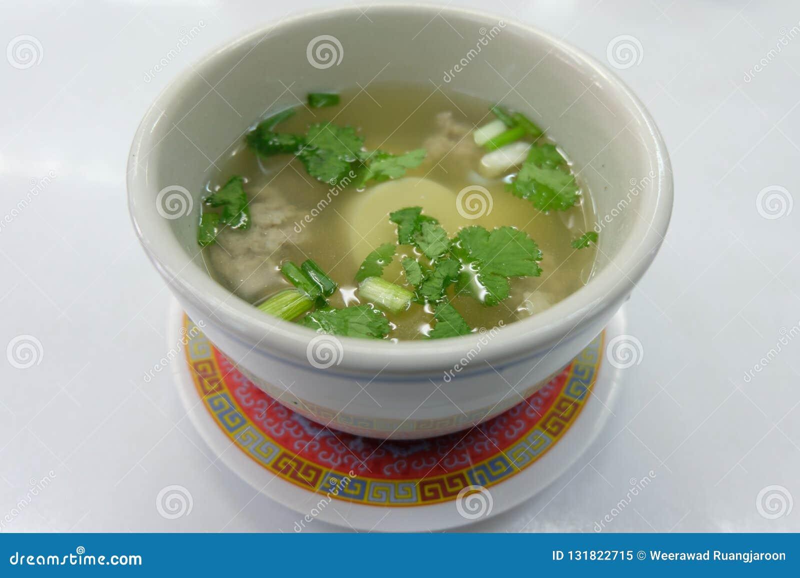 ÄggTofusoppa, thailändsk lätt meny