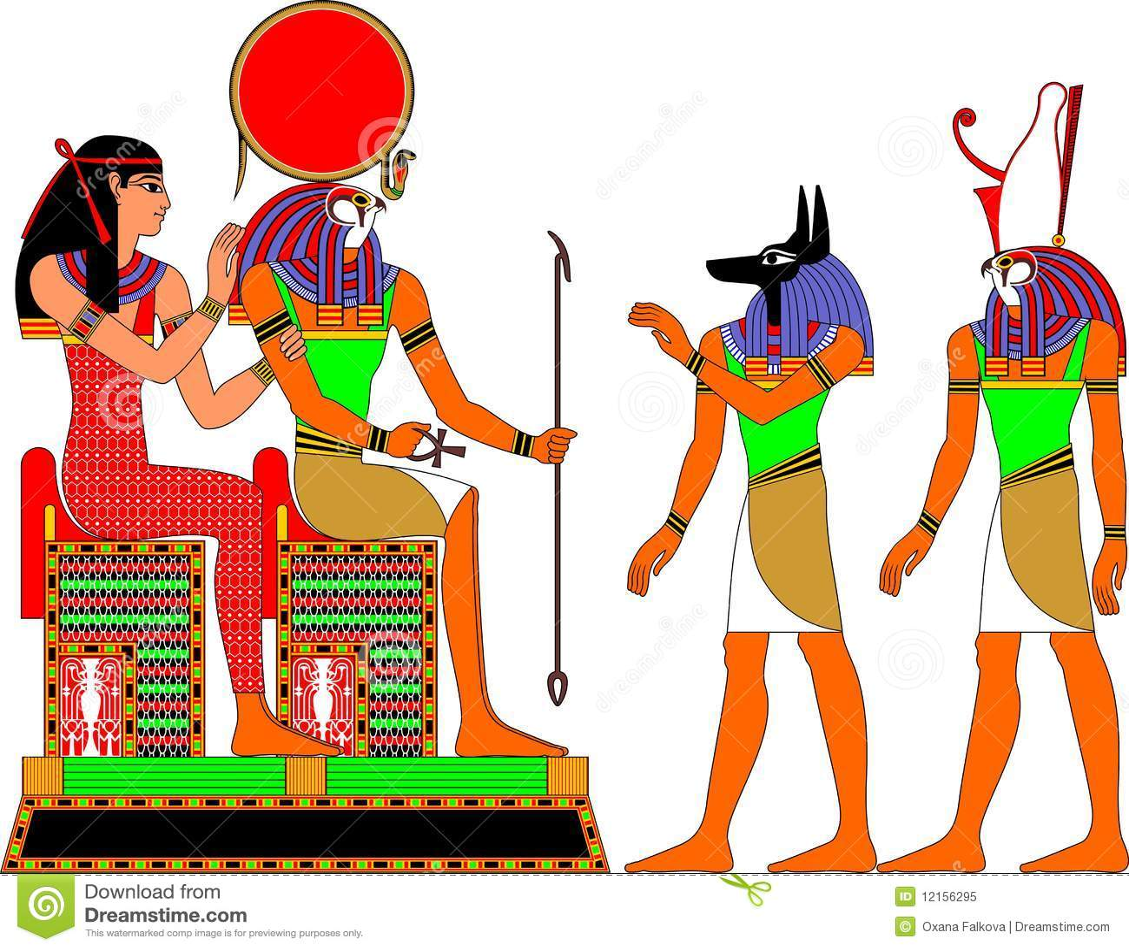 Ägypten-Götter Lizenzfreies Stockfoto - Bild: 12156295