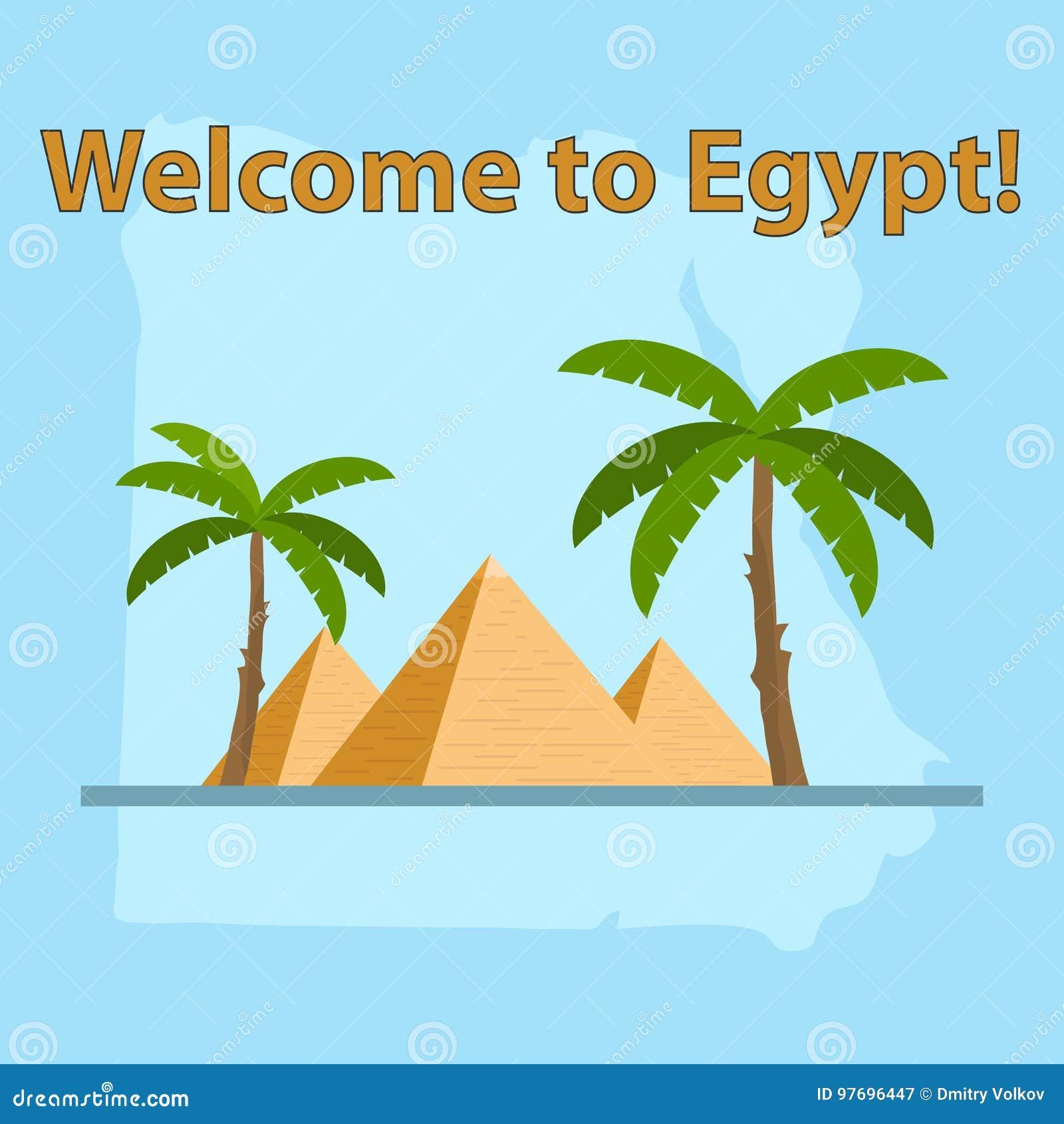 Agypten Karte Von Agypten Agyptische Pyramiden Vektor Abbildung