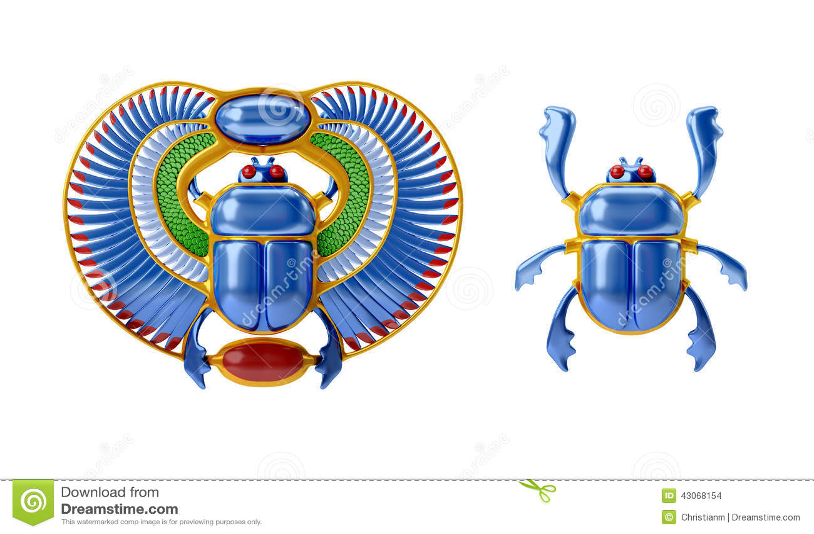 Ägyptischer Scarabäus schwarz-gold