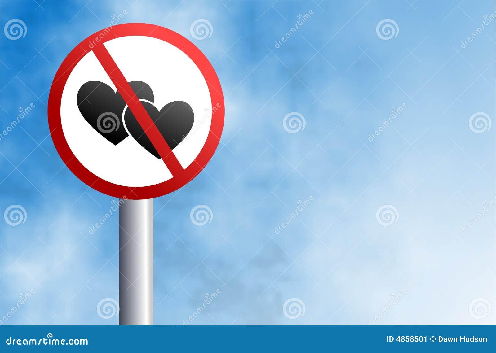 älska inget tecken