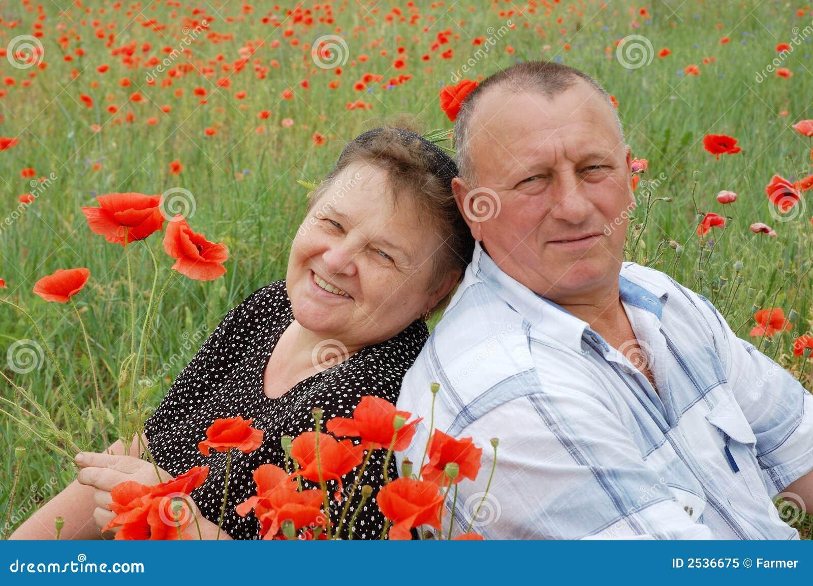 älskvärd pensionär för par