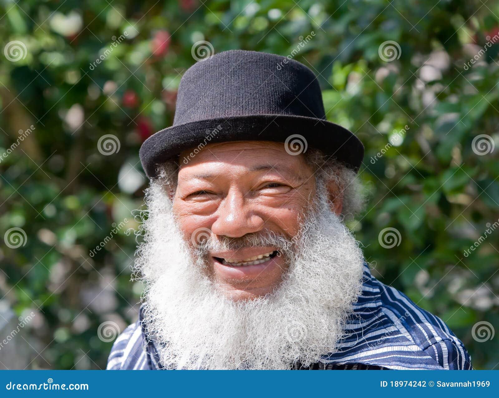 Älterer Afroamerikaner-Mann
