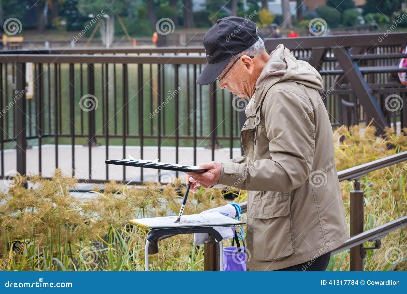 Älterer Bürger in Tokyo