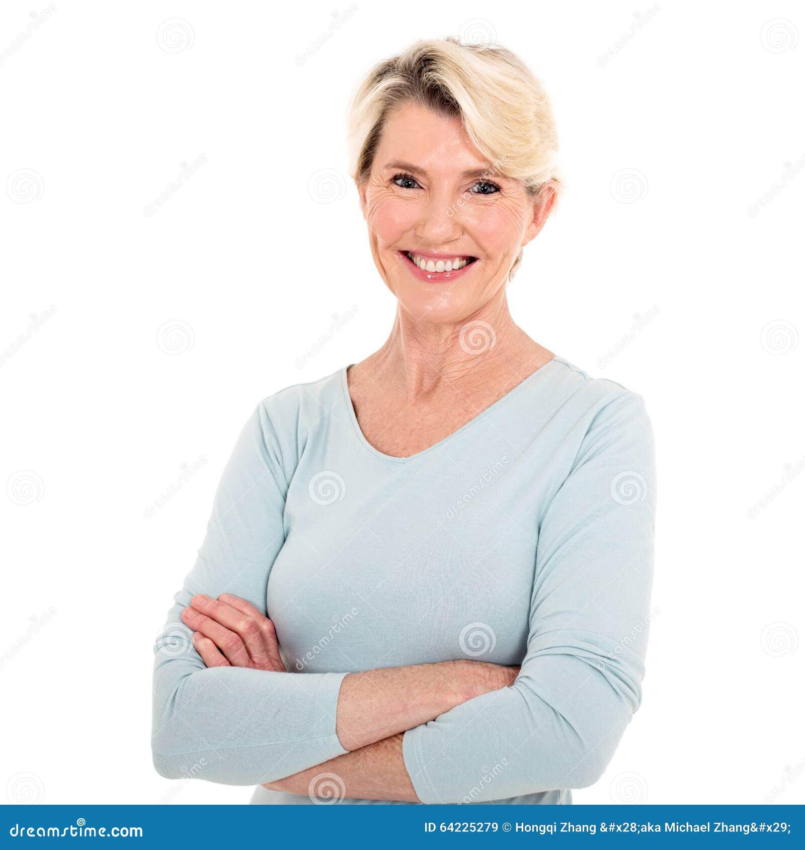 Älterer Frauenabschluß oben