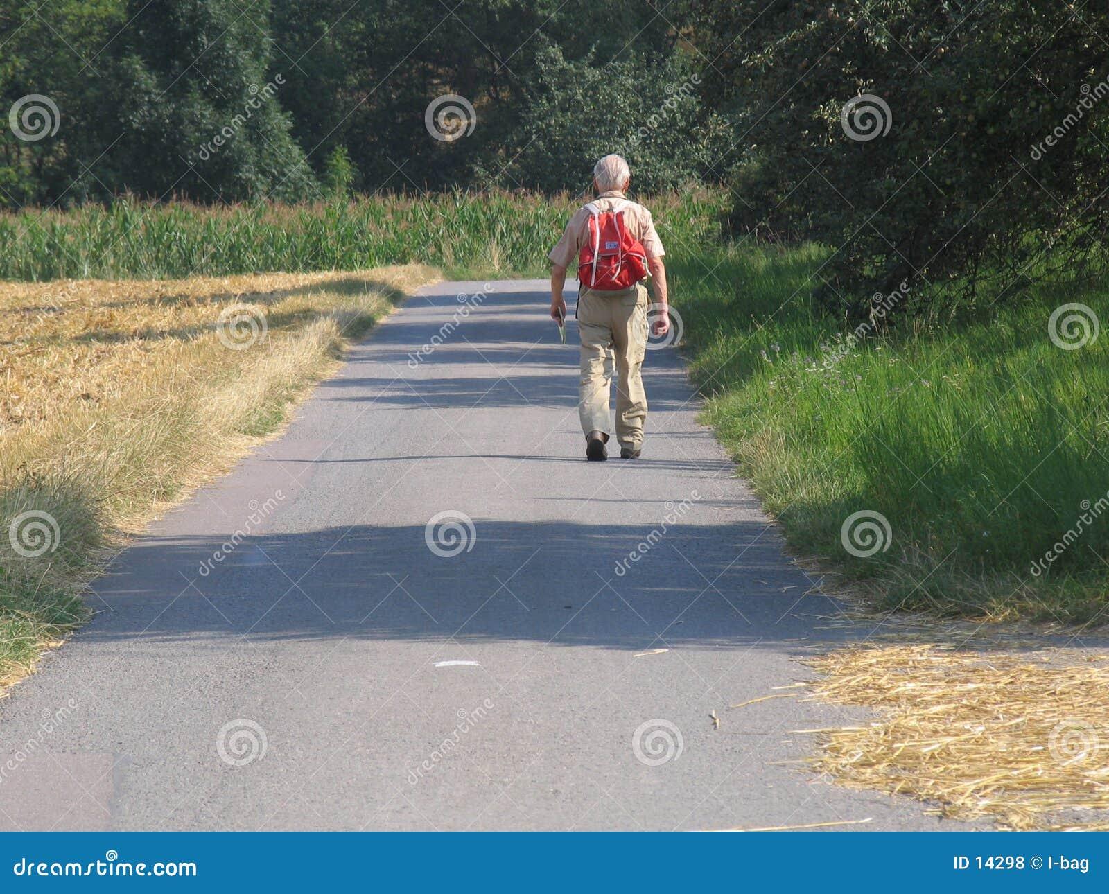 Älterer Wanderer