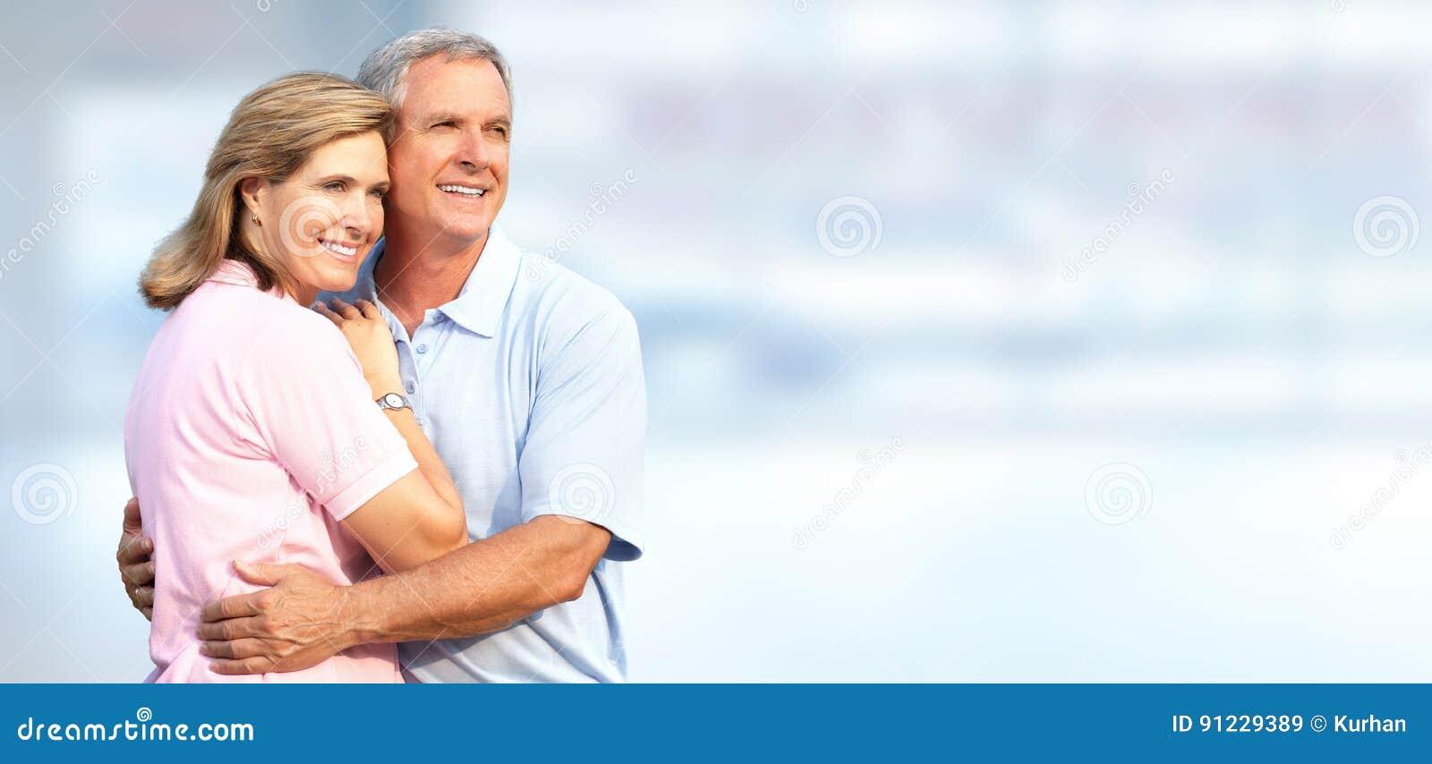 Älteres Paarlächeln